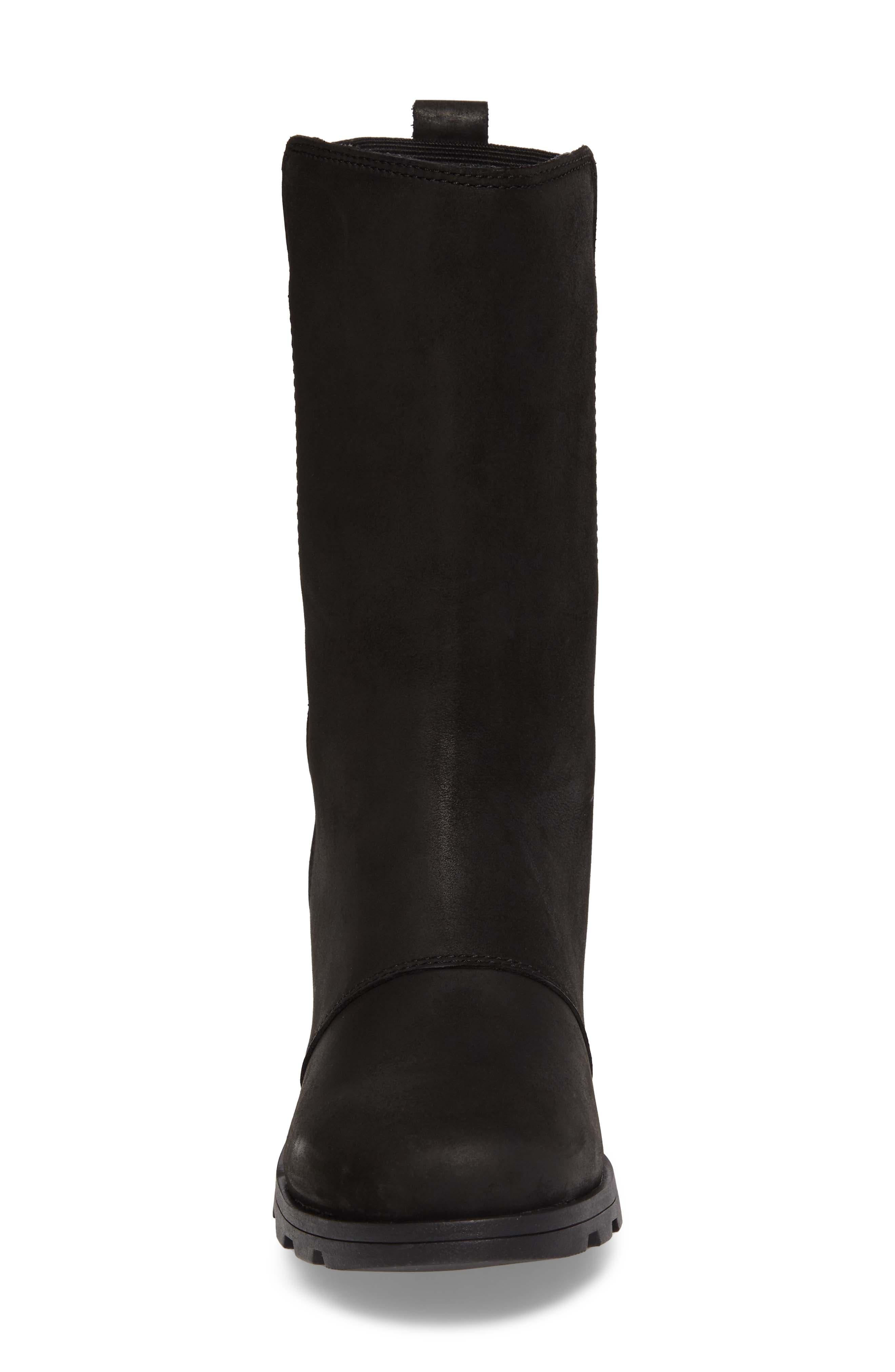 Emelie Waterproof Boot,                             Alternate thumbnail 4, color,                             Black