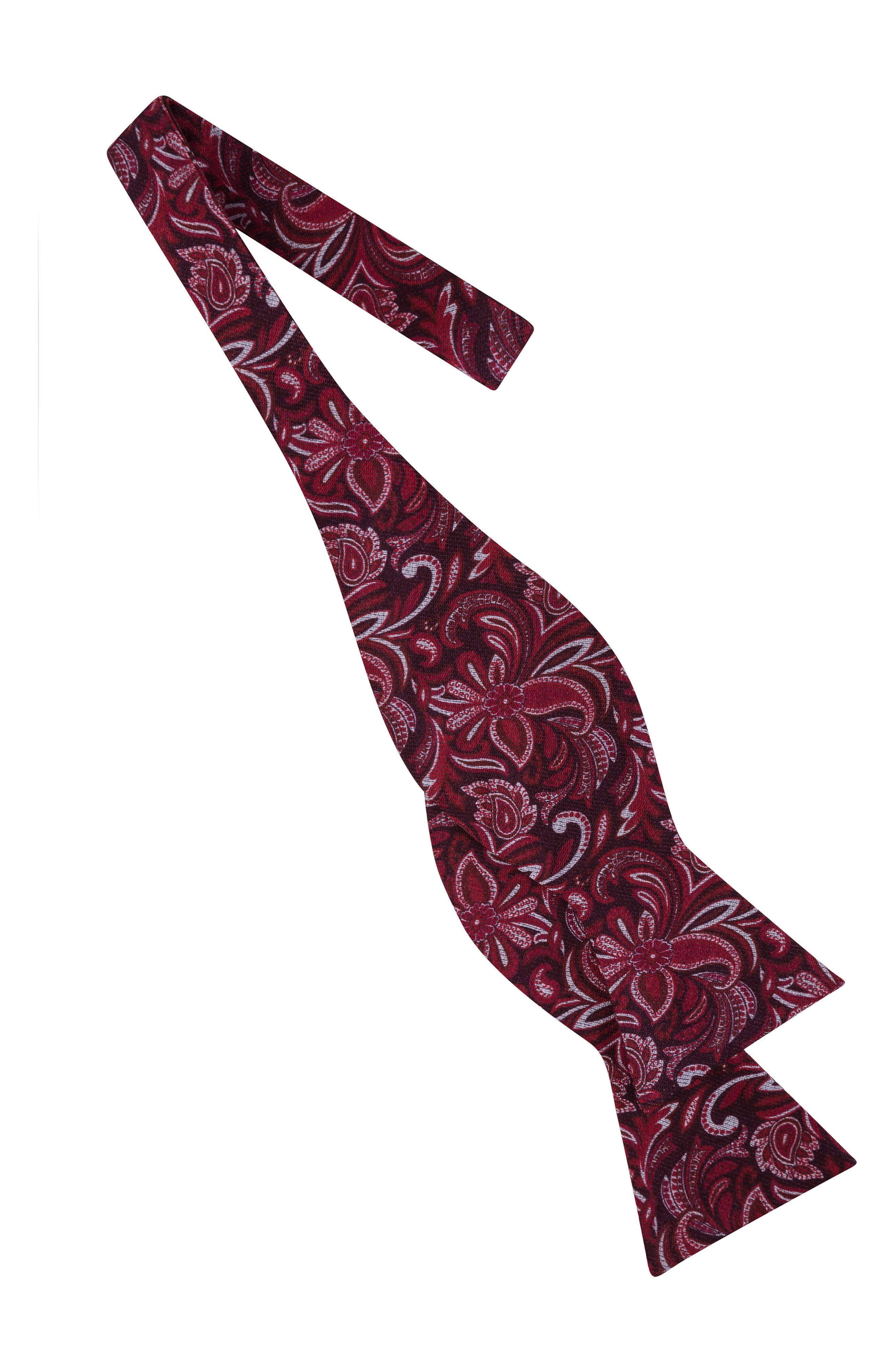 Fantastic Paisley Silk Bow Tie,                             Alternate thumbnail 2, color,                             Burgundy