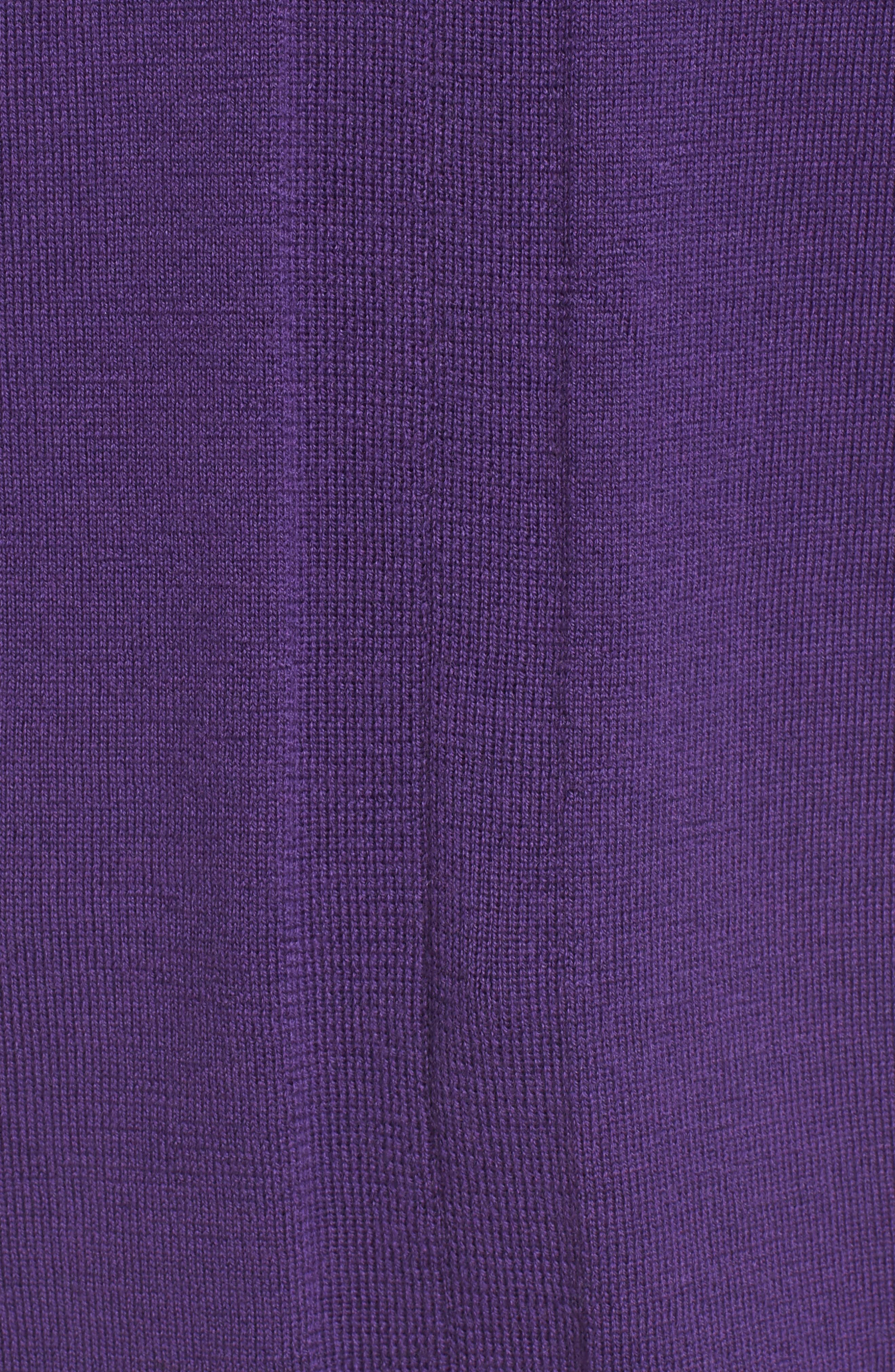 Merino Wool Tunic Sweater,                             Alternate thumbnail 5, color,                             Purple Rain