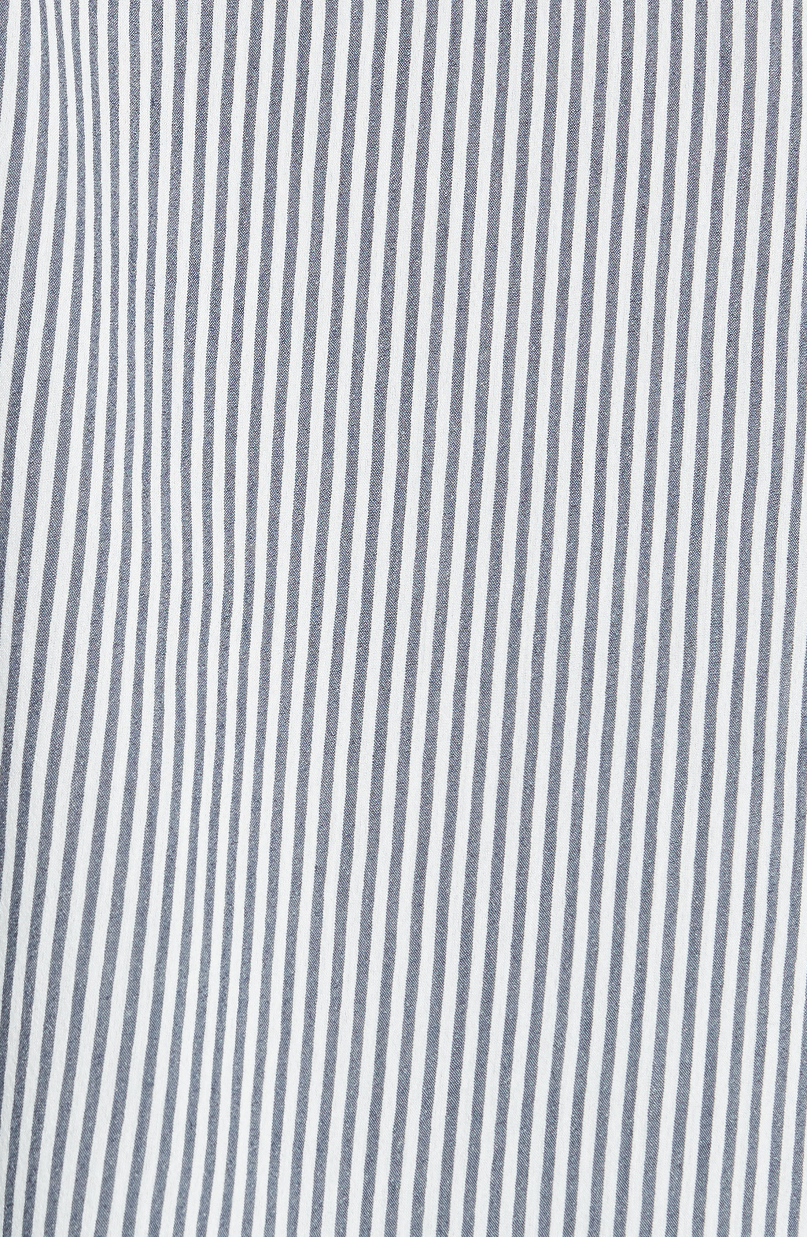 Alternate Image 5  - The Kooples James Lace Trim Stripe Shirt