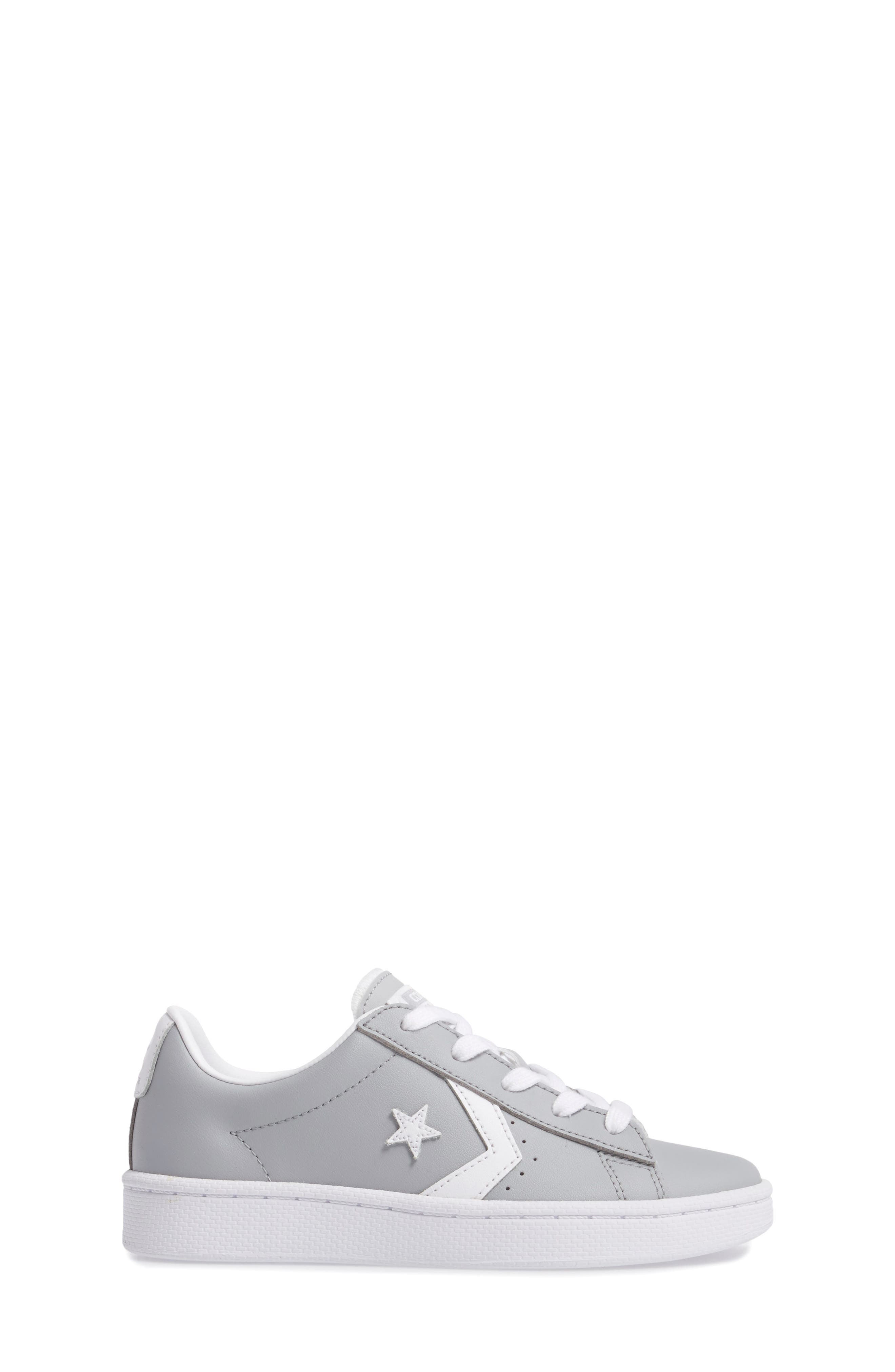 All Star<sup>®</sup> Pro Leather Low Top Sneaker,                             Alternate thumbnail 3, color,                             Wolf Grey