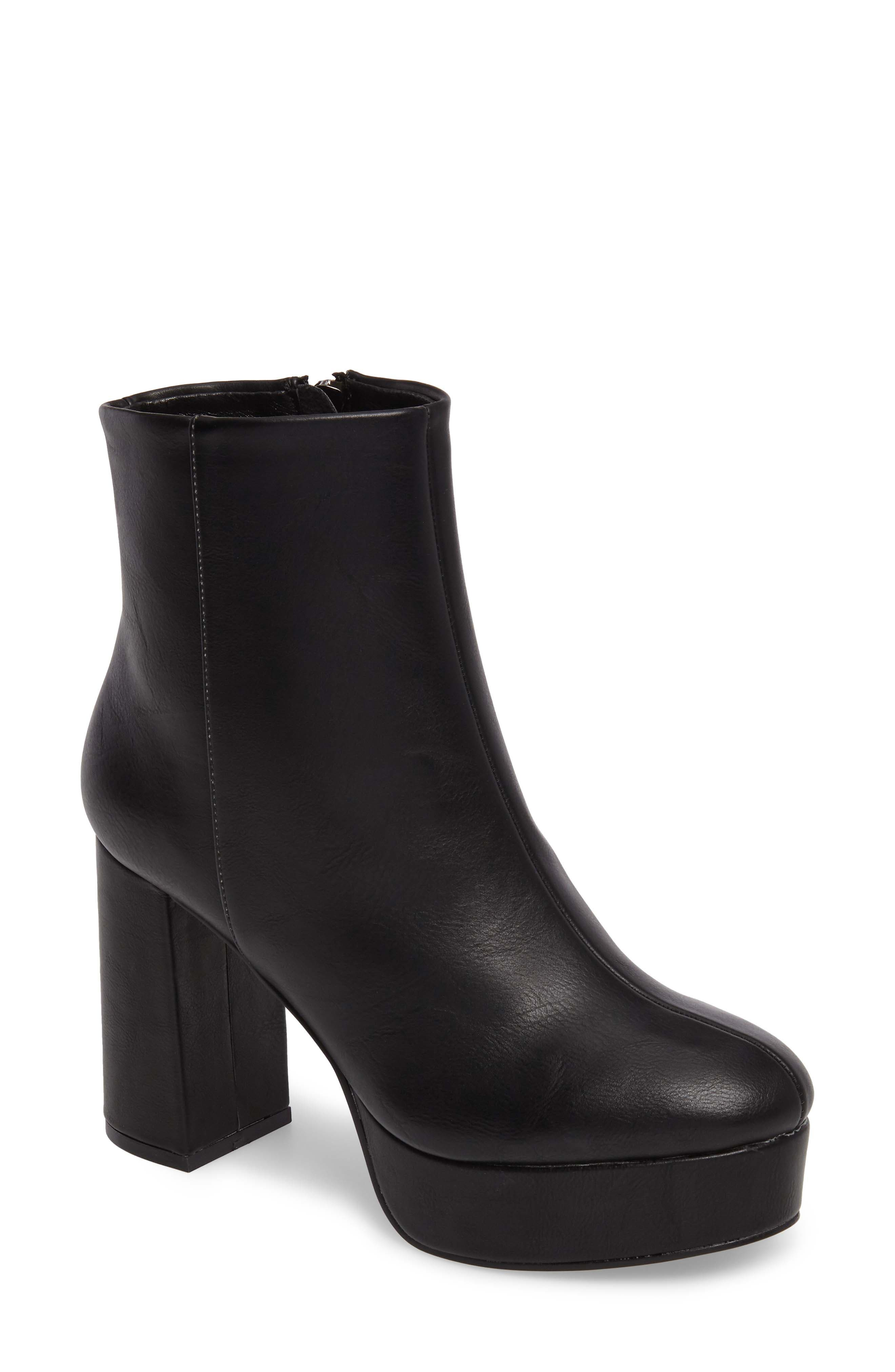 Nenna Platform Bootie,                             Main thumbnail 1, color,                             Black