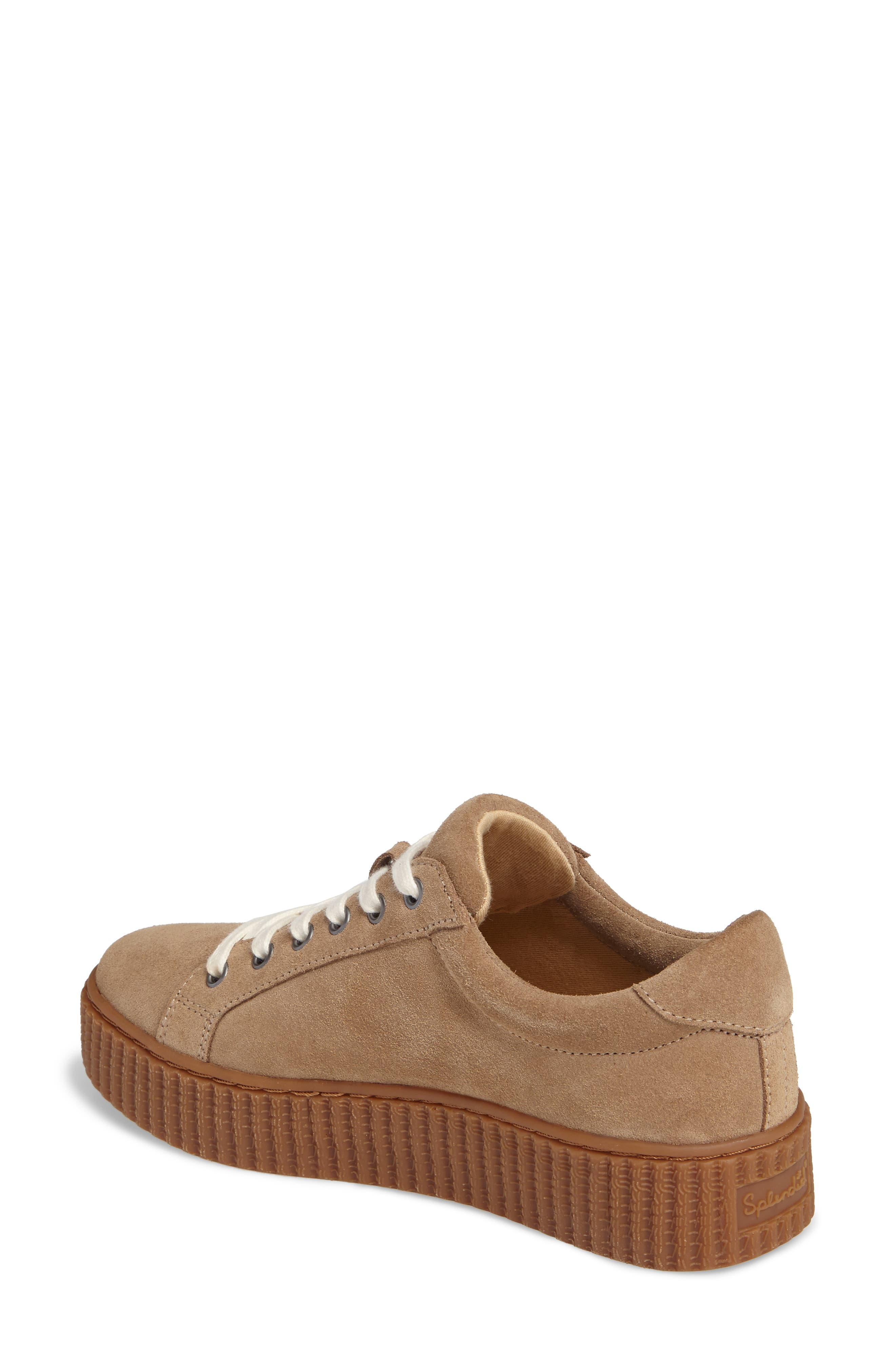 Ruth Platform Sneaker,                             Alternate thumbnail 2, color,                             Light Taupe Suede
