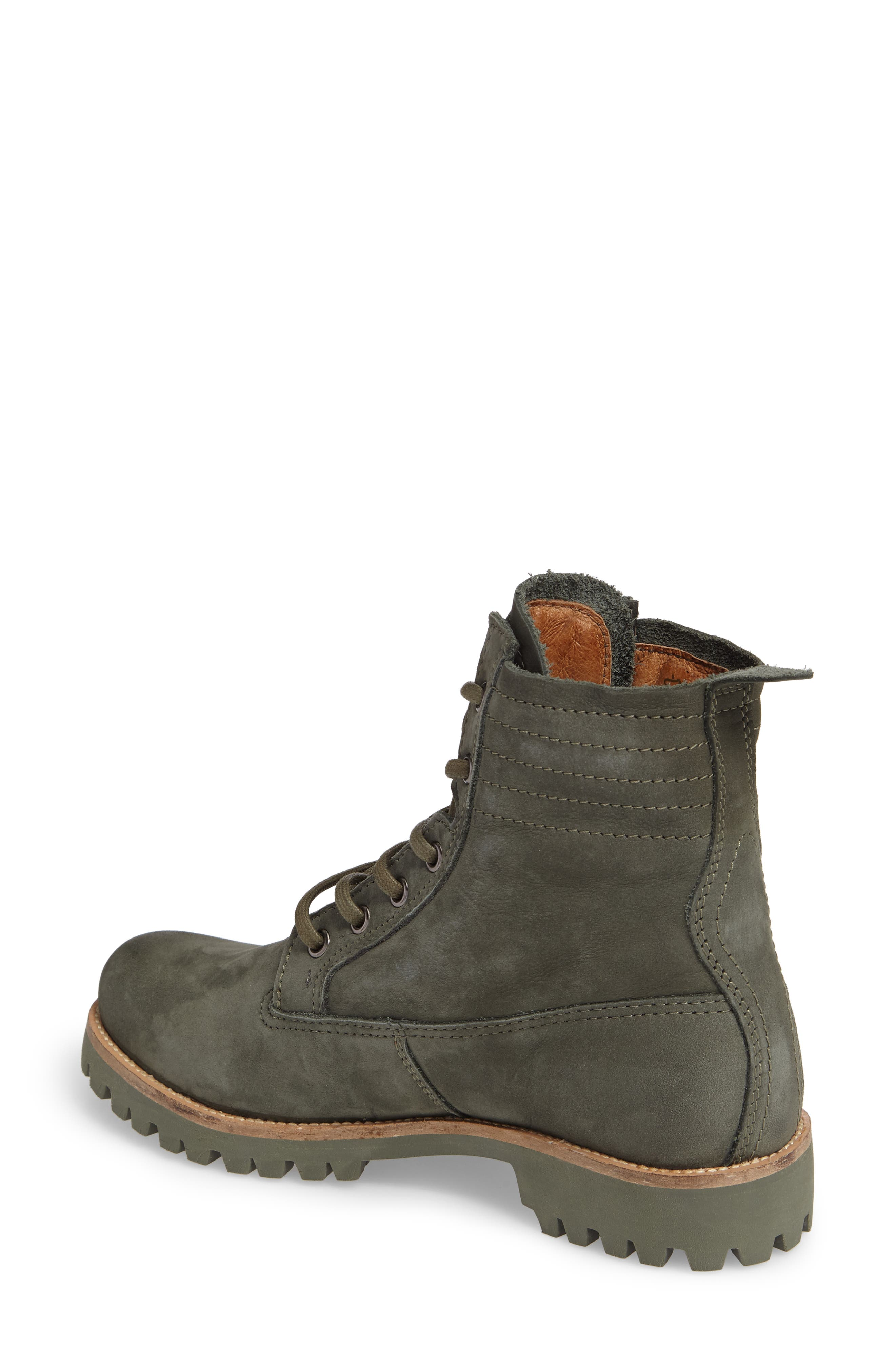 OL23 Lace-Up Boot,                             Alternate thumbnail 2, color,                             Dark Green Nubuck