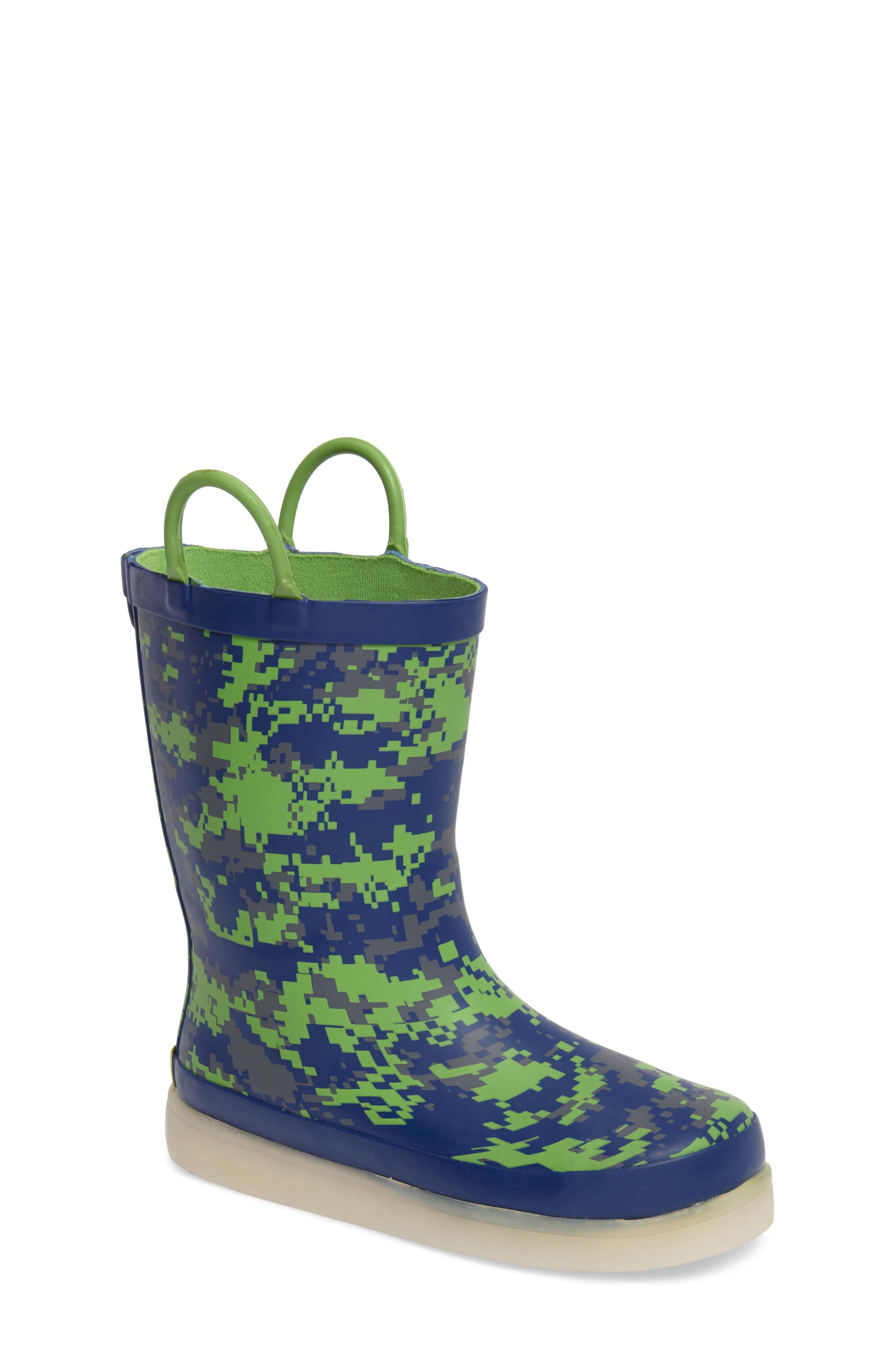 Alternate Image 1 Selected - Western Chief Digital Camo LED Rain Boot (Toddler, Little Kid & Big Kid)