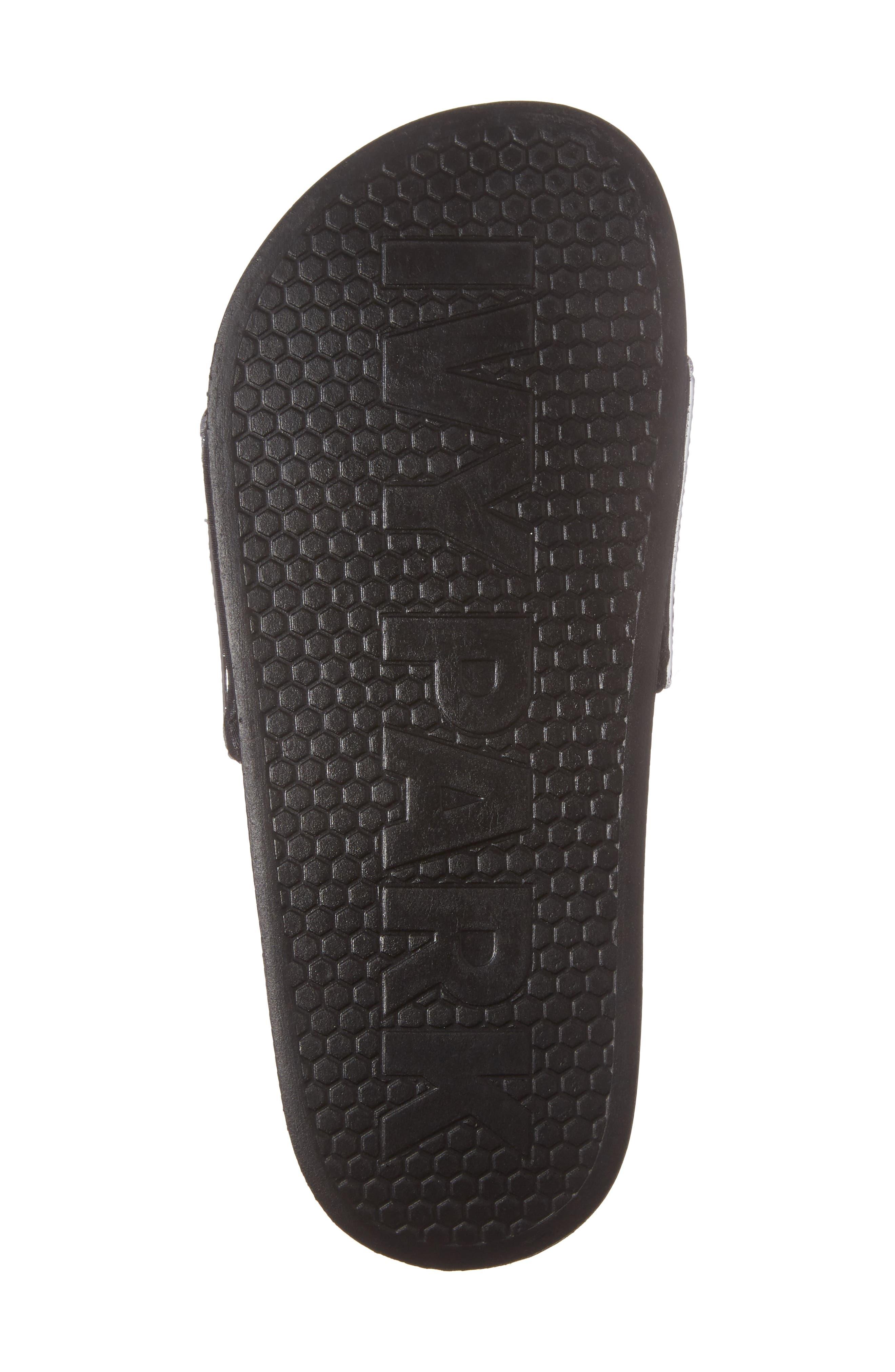 Neoprene Lined Logo Slide Sandal,                             Alternate thumbnail 6, color,                             Gunmetal