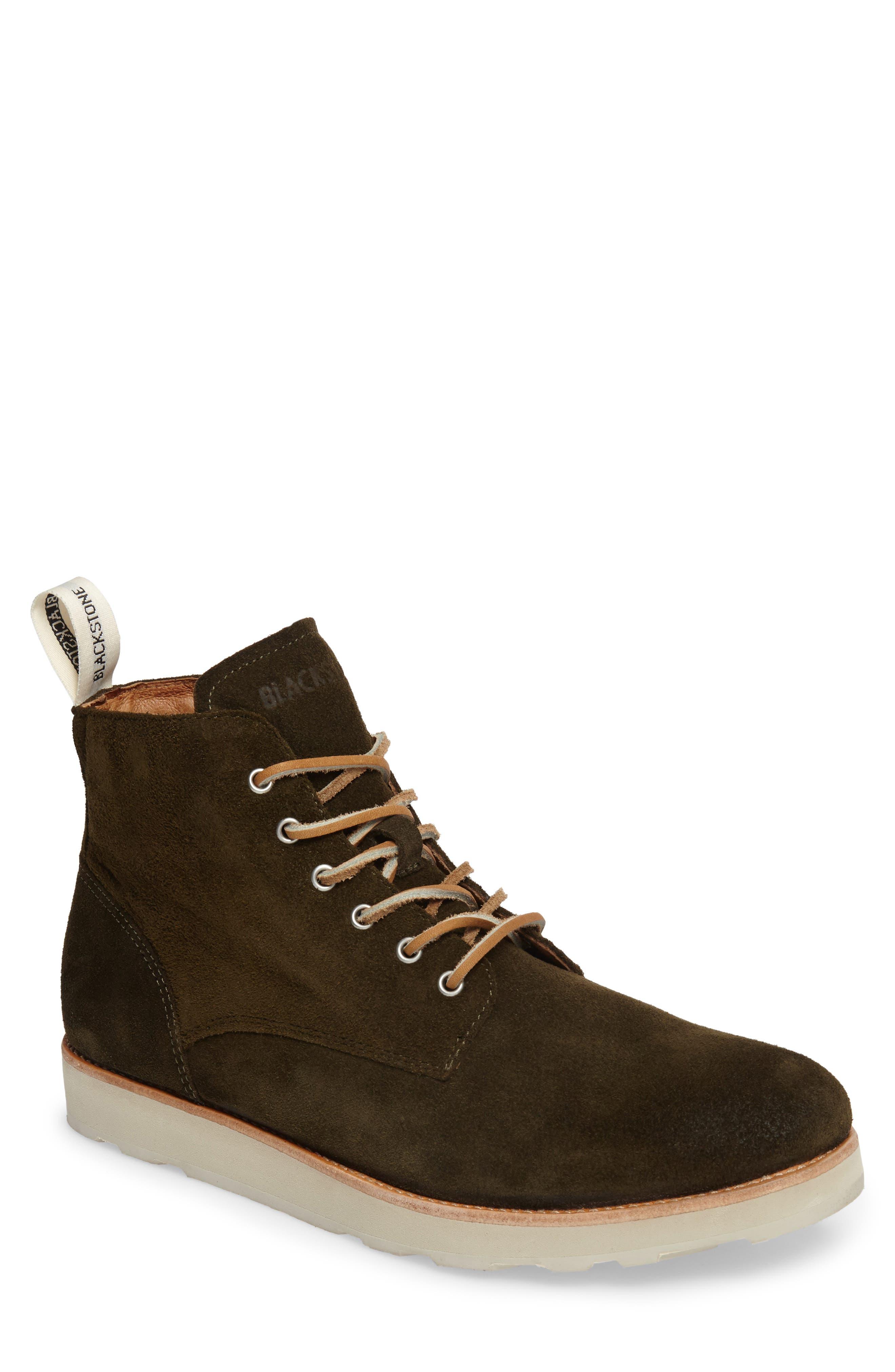 OM 53 Plain Toe Boot,                             Main thumbnail 1, color,                             Dark Green Leather