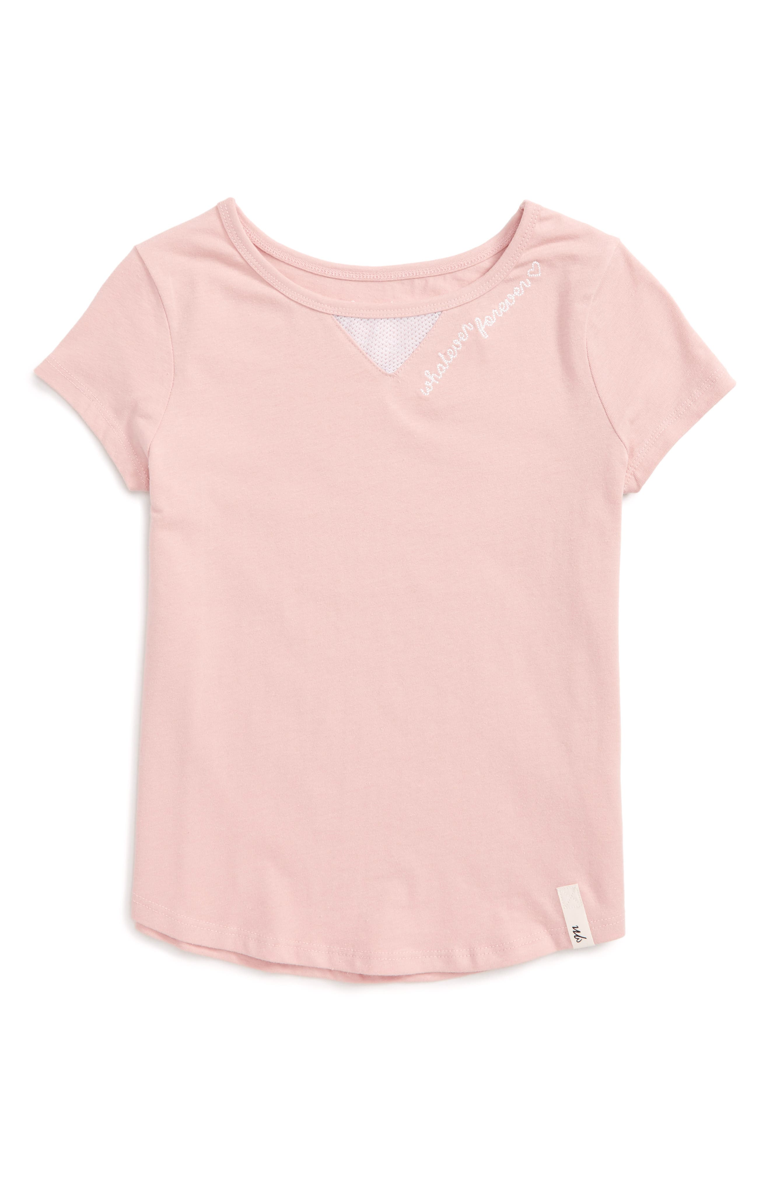 Whatever Forever Tee,                         Main,                         color, Pink
