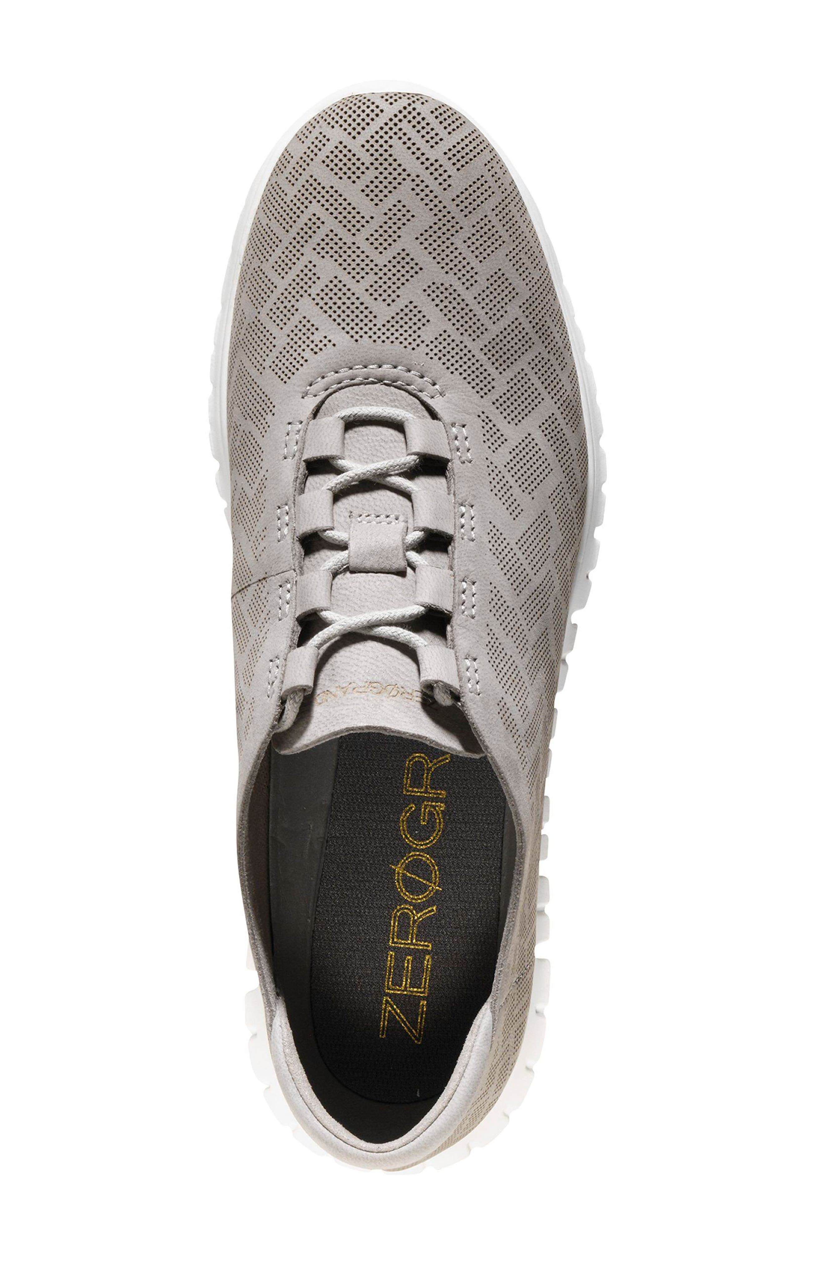 ZERØGRAND Genevieve Perforated Sneaker,                             Alternate thumbnail 4, color,                             Ironstone Perf Nubuck