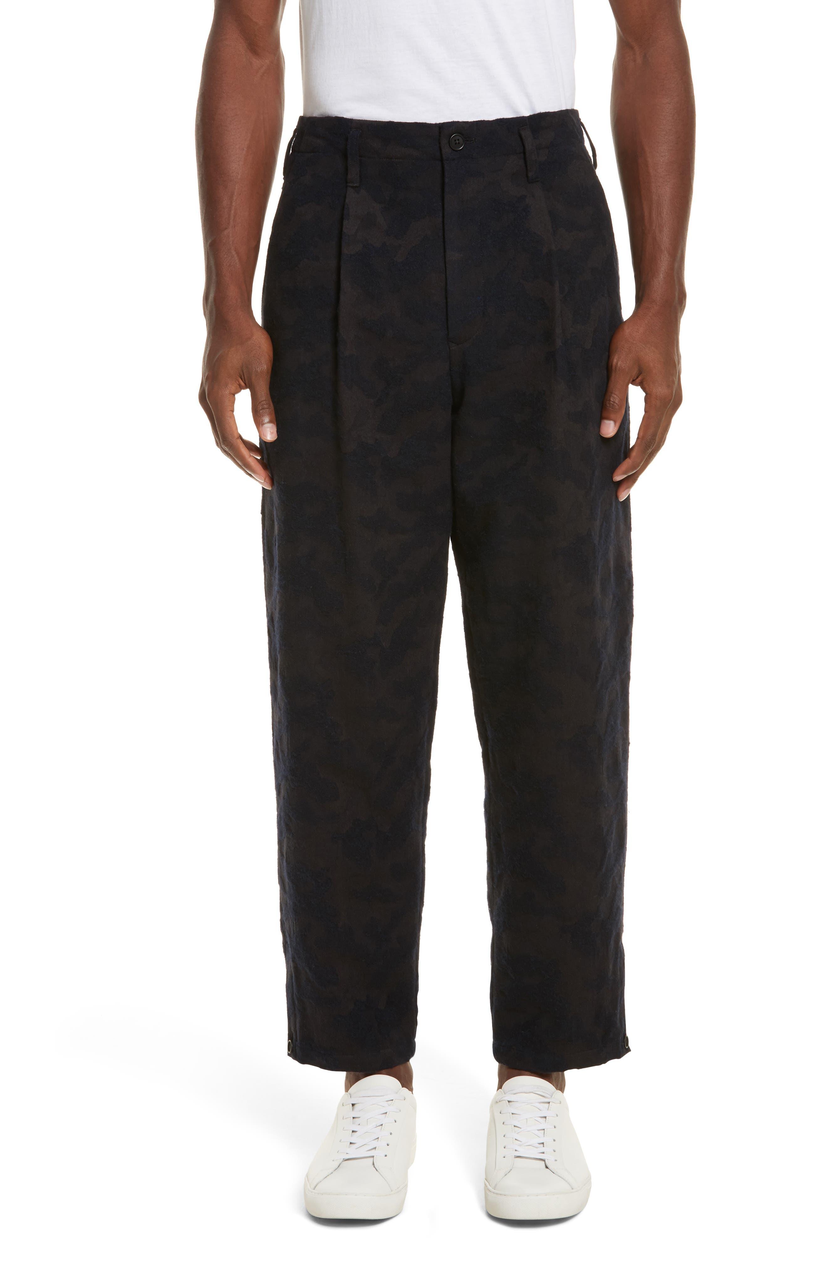 Camo Crop Pants,                         Main,                         color, Navy
