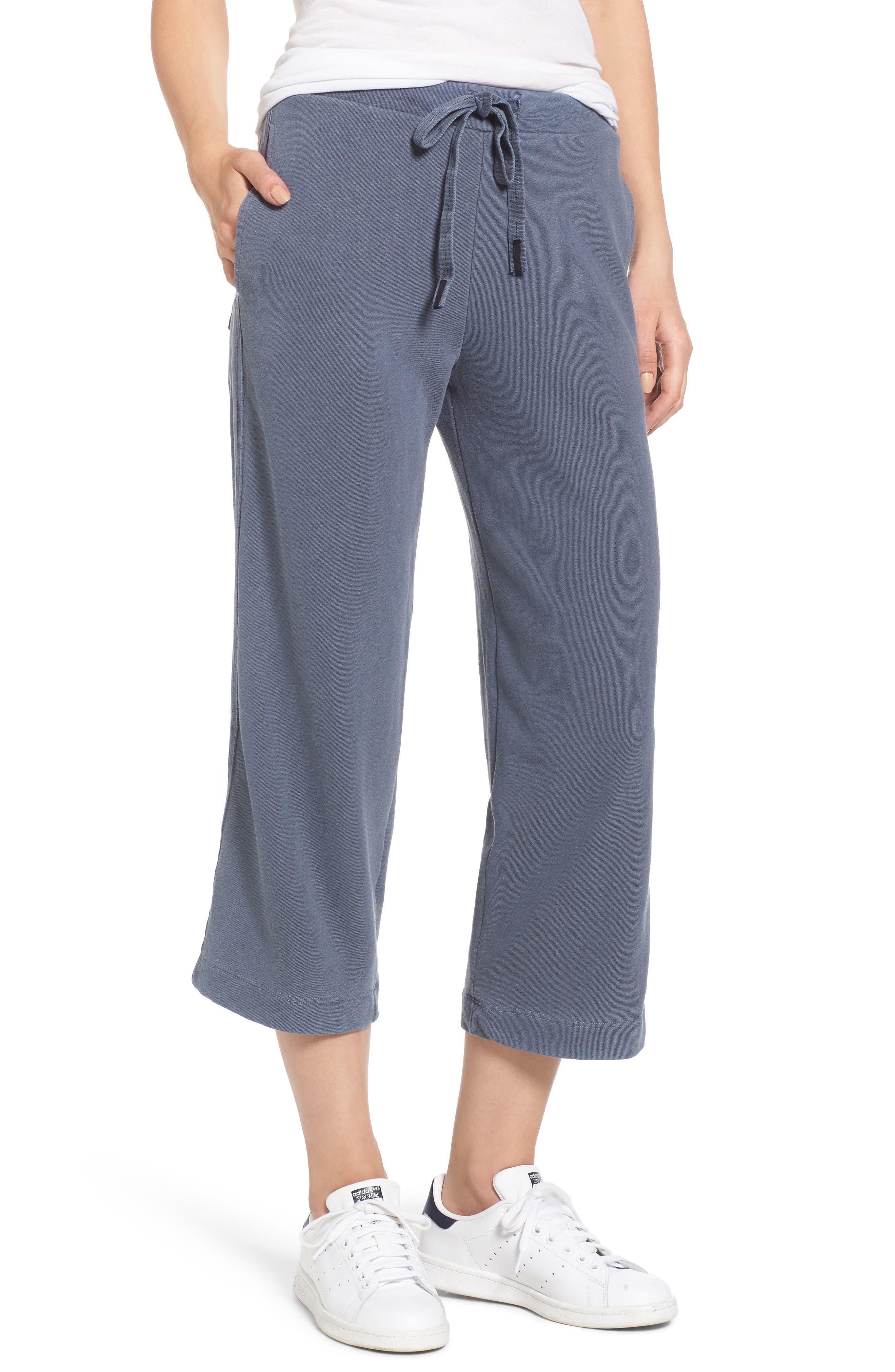 Crop Sweatpants,                         Main,                         color, Navy