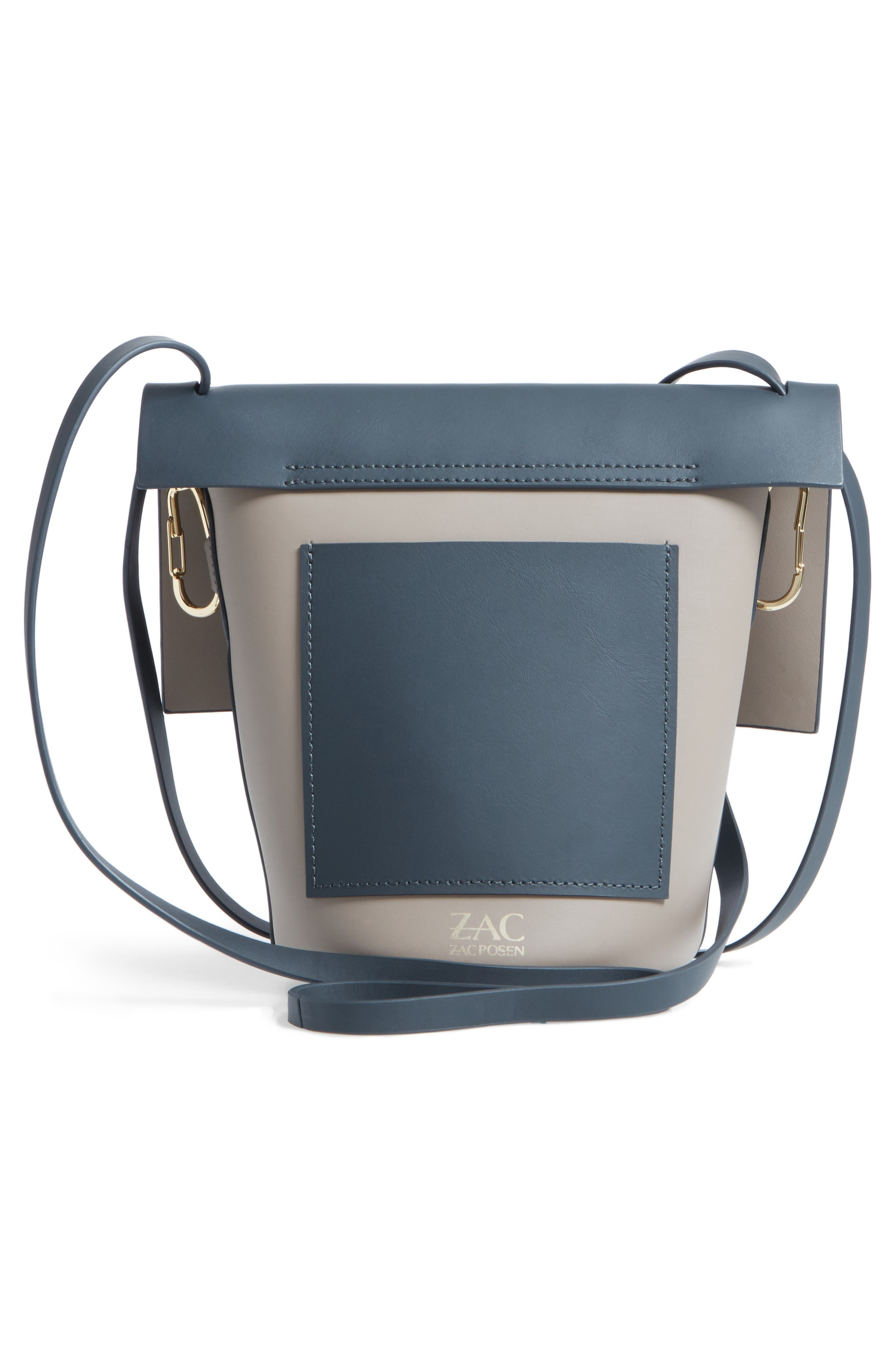 Belay Colorblock Leather Crossbody Bag,                             Alternate thumbnail 3, color,                             Nightfall