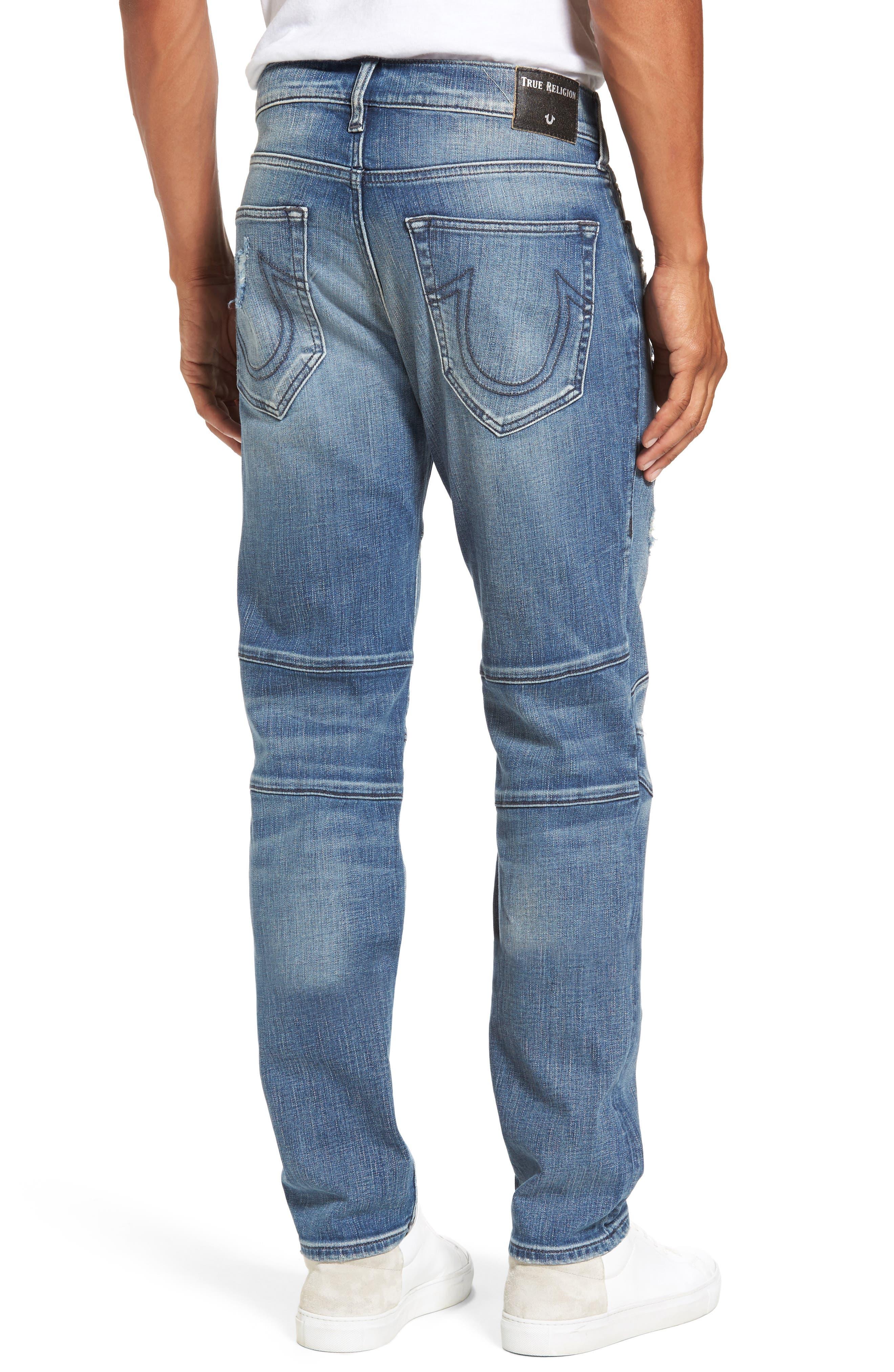 Alternate Image 2  - True Religion Brand Jeans Rocco Skinny Fit Jeans (Indigo Clutch)