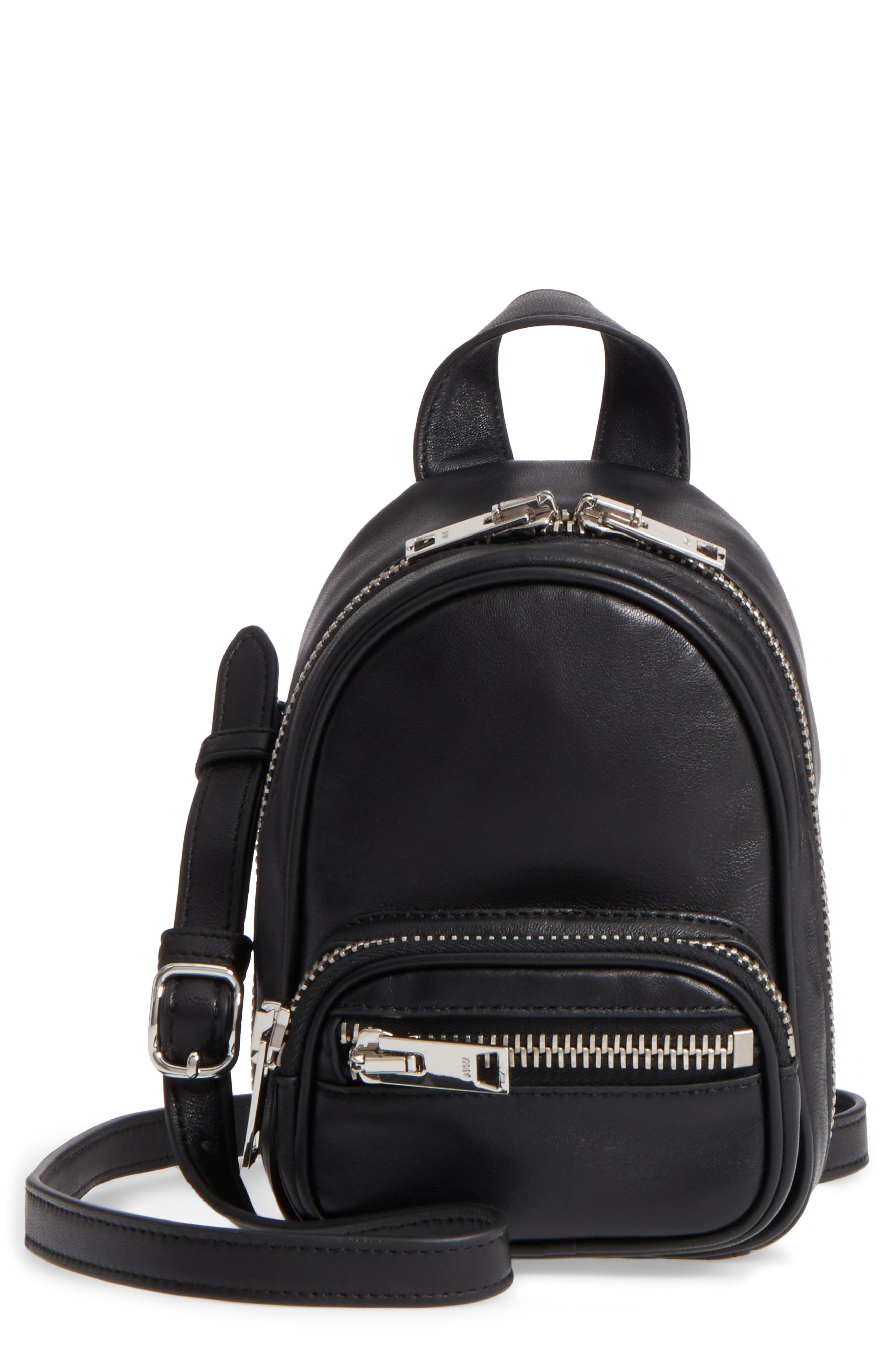 Alternate Image 1 Selected - Alexander Wang Mini Attica Leather Backpack Shaped Crossbody Bag