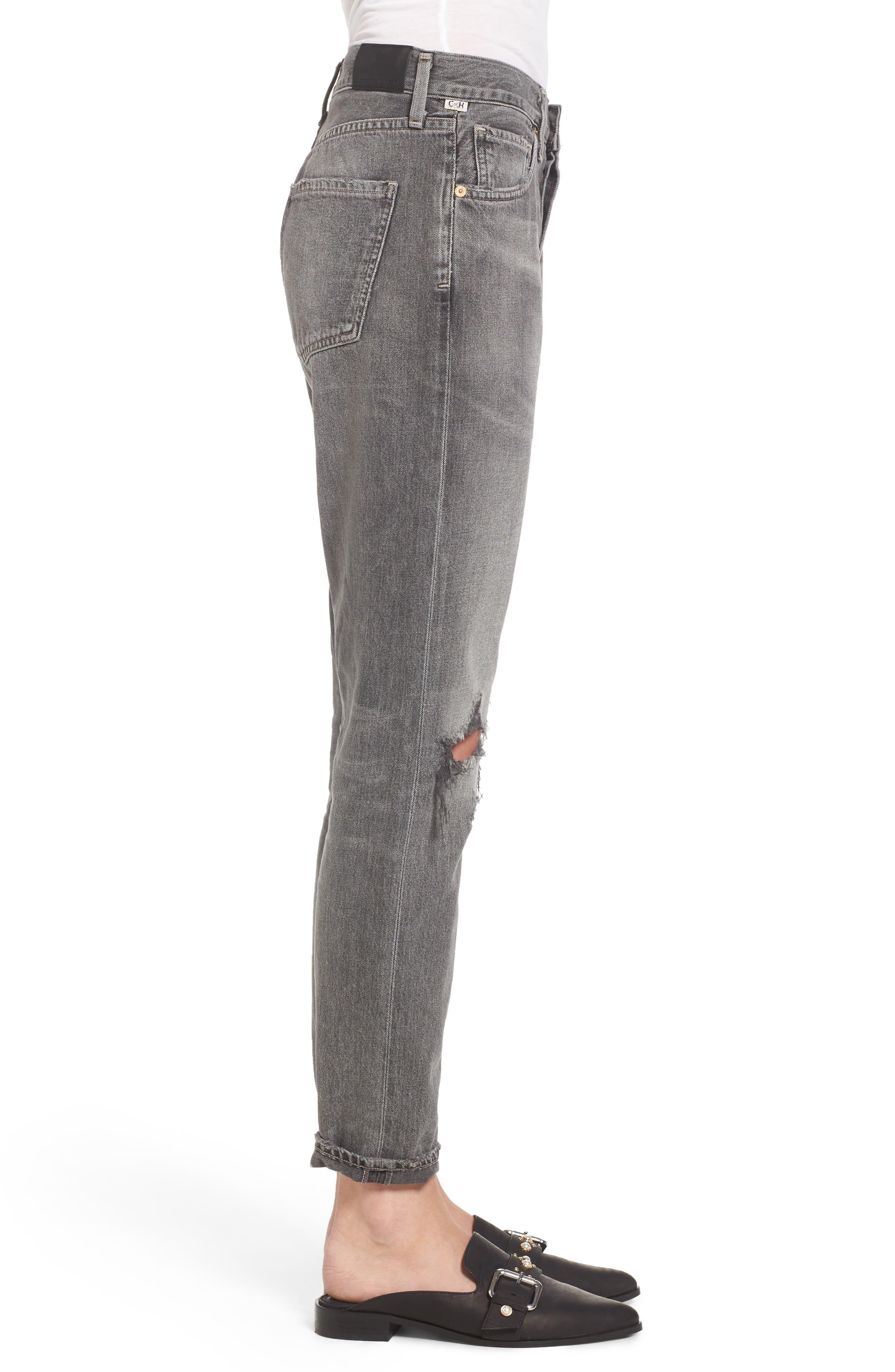Liya High Waist Boyfriend Jeans,                             Alternate thumbnail 3, color,                             Extreme