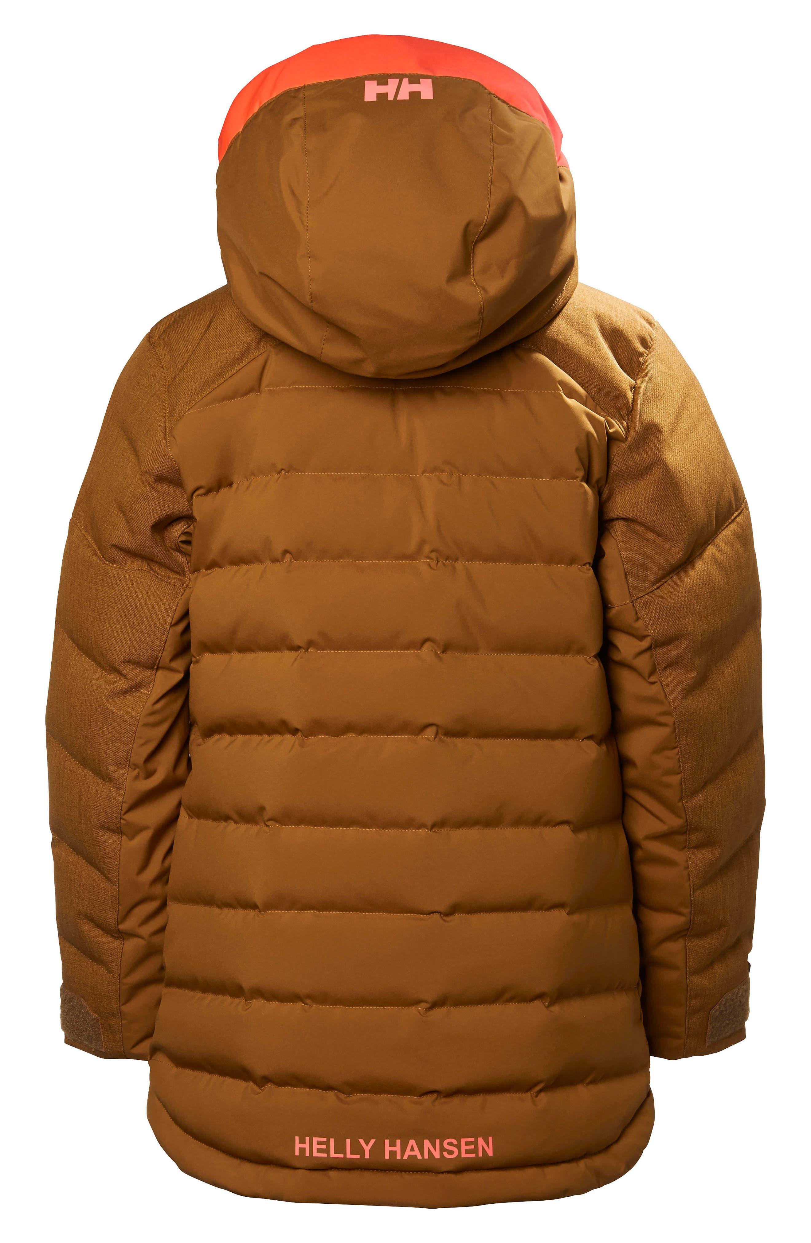 Jr. Leah Waterproof & Windproof 480-Fill Power Down Jacket,                             Alternate thumbnail 2, color,                             Cinnamon