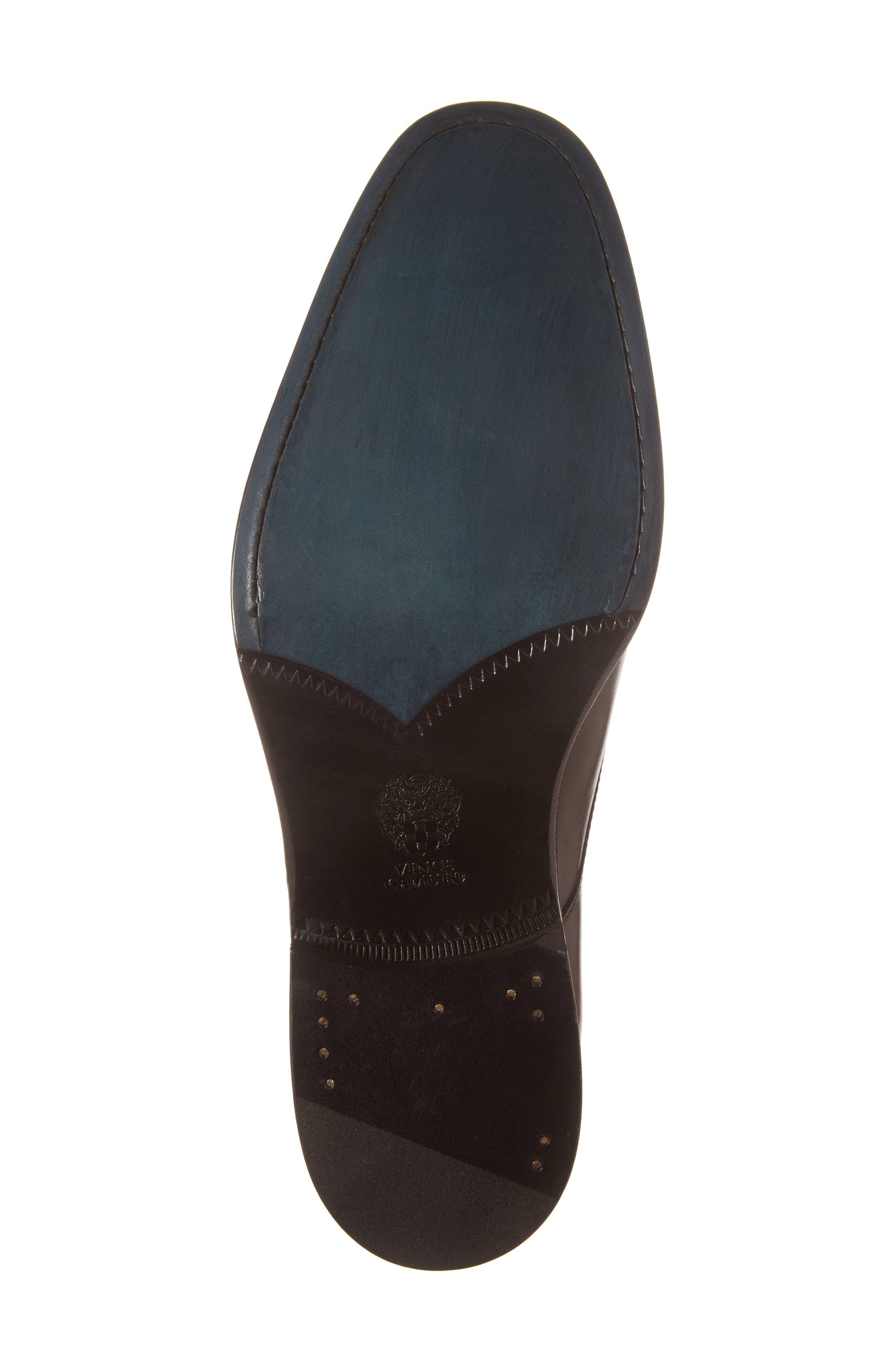 Haltter Medallion Toe Derby,                             Alternate thumbnail 6, color,                             Dark Brown Leather