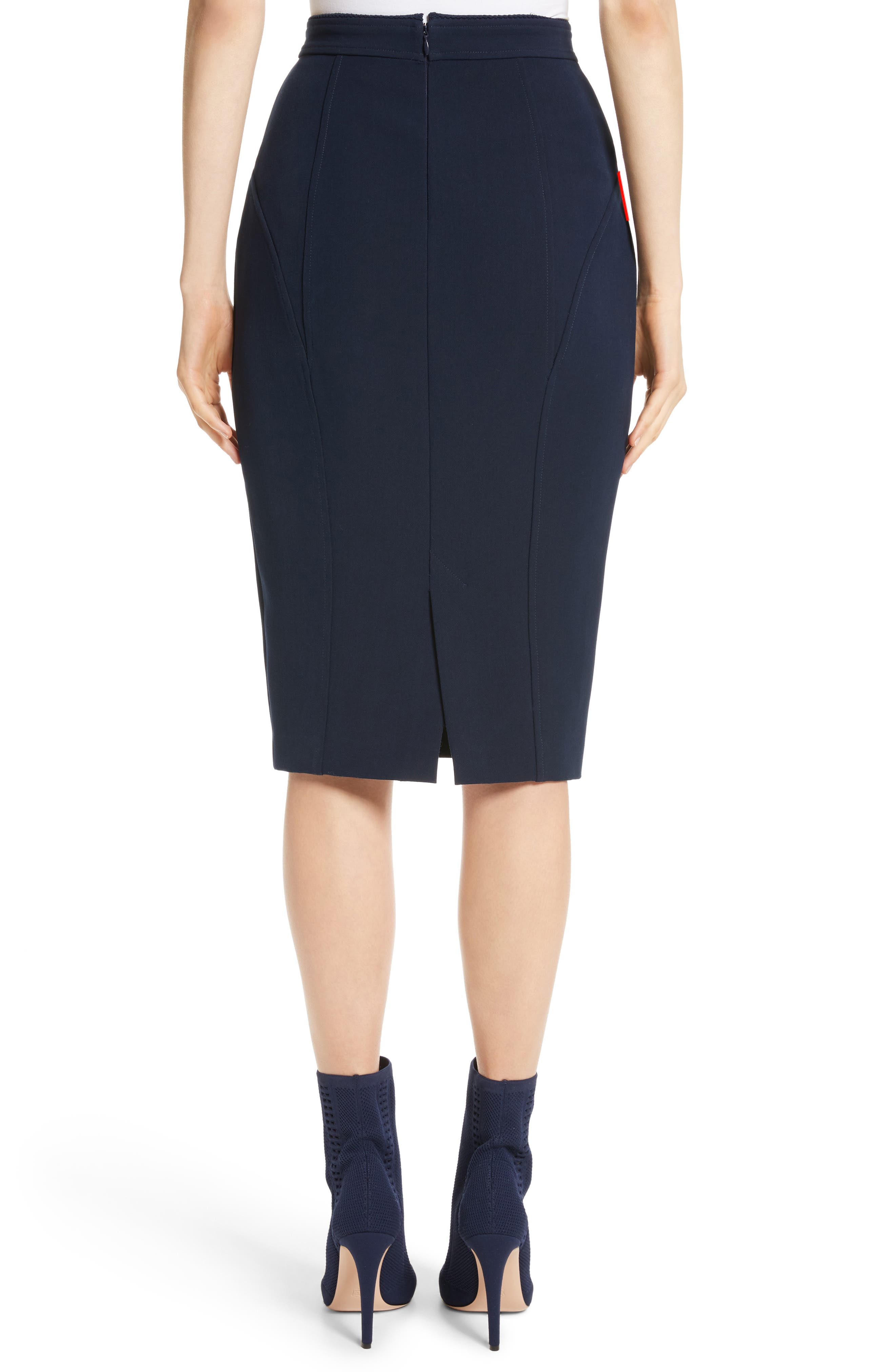 Alternate Image 2  - St. John Collection Bella Double Weave Pencil Skirt