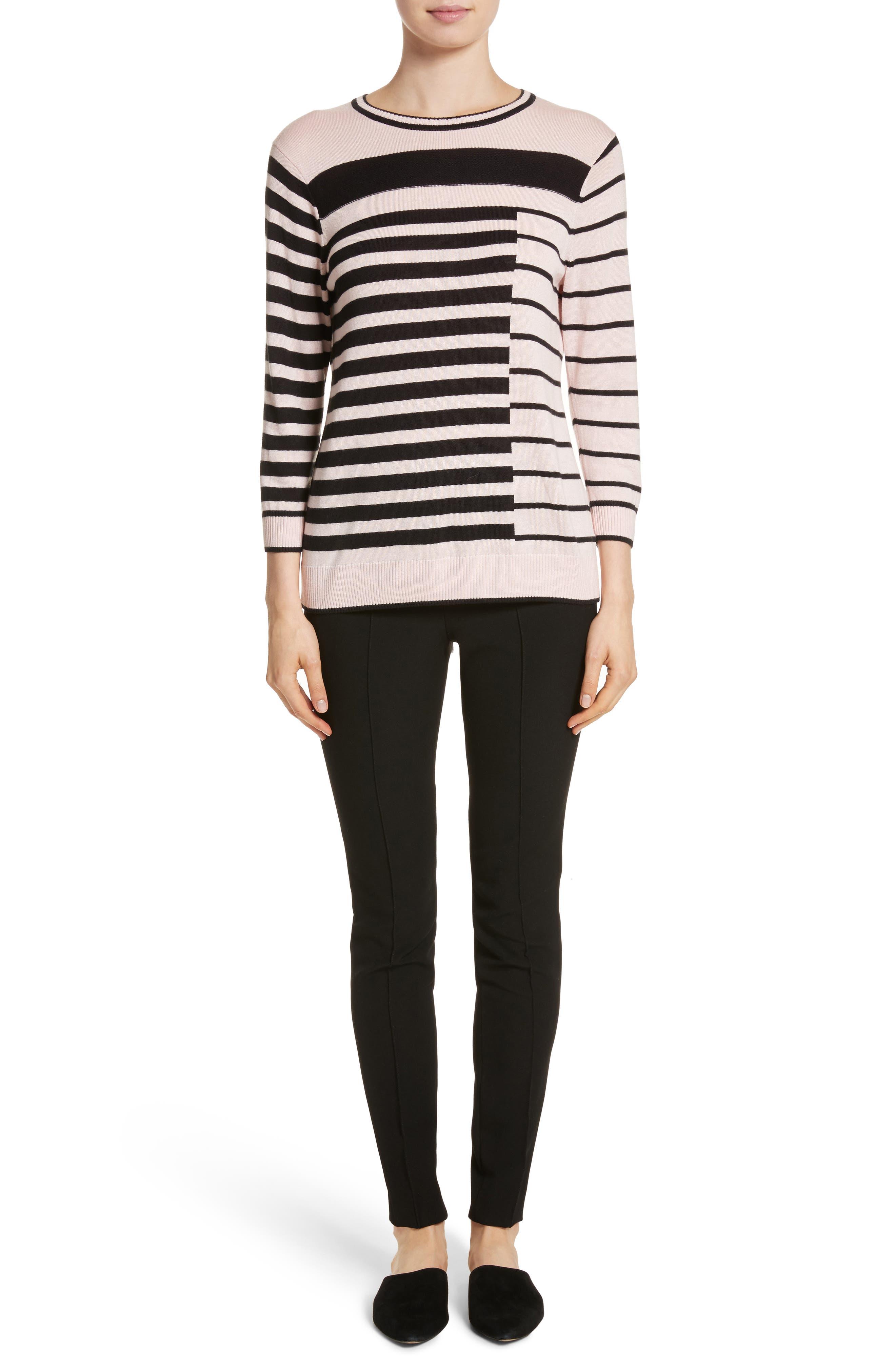 Alternate Image 5  - St. John Collection Intarsia Stripe Sweater