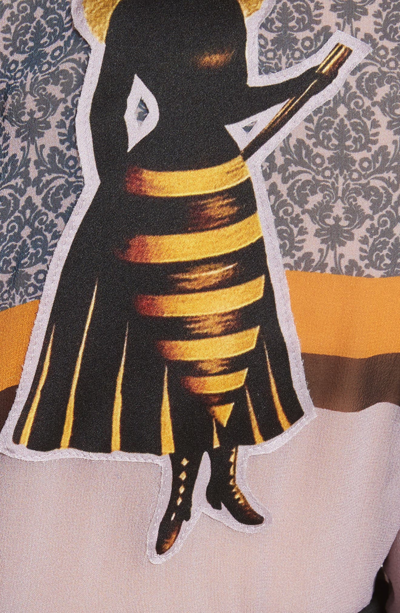 Stripe Silk Crop Top,                             Alternate thumbnail 5, color,                             Pale Purple