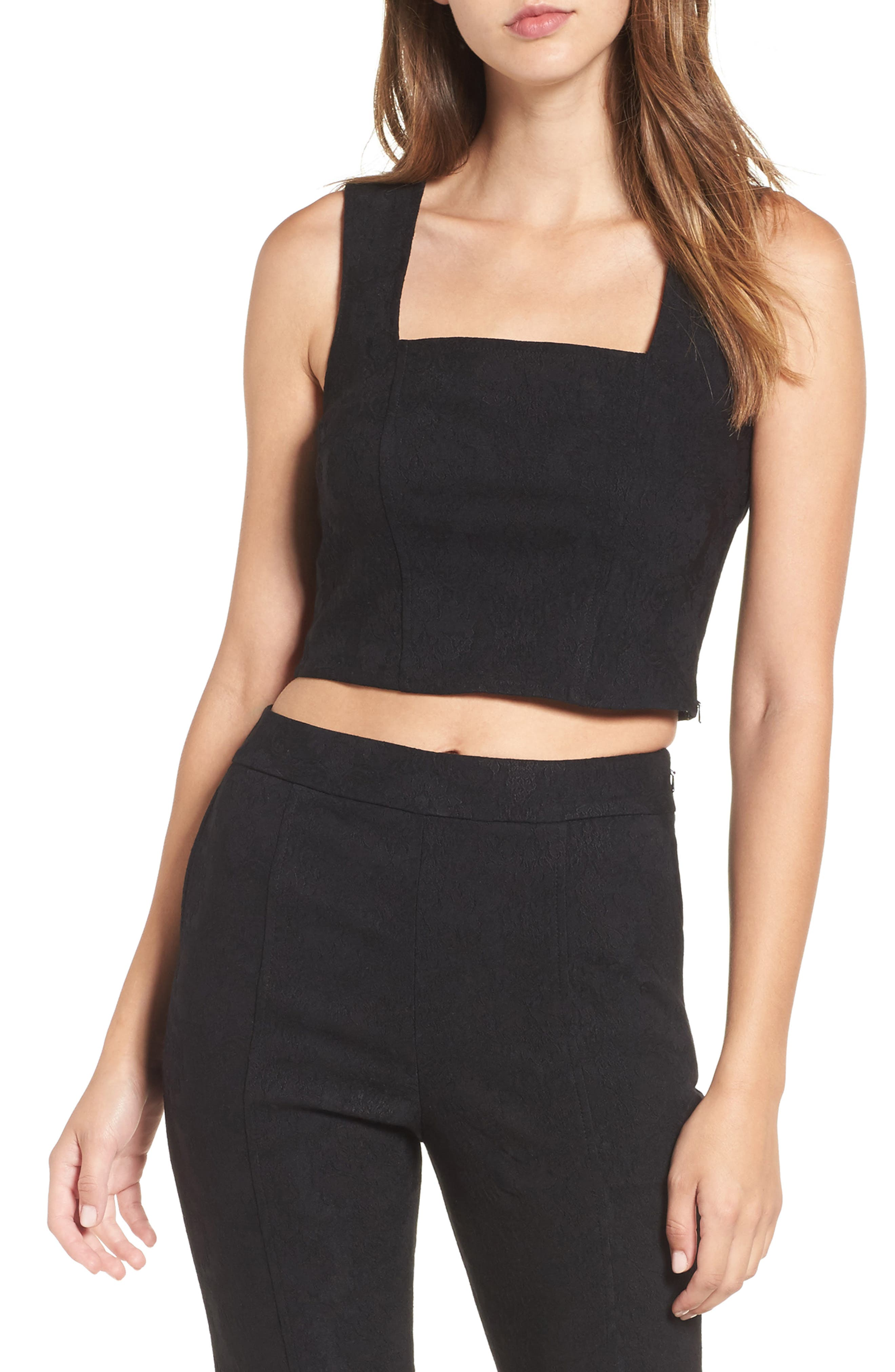 Leith Jacquard Crop Top