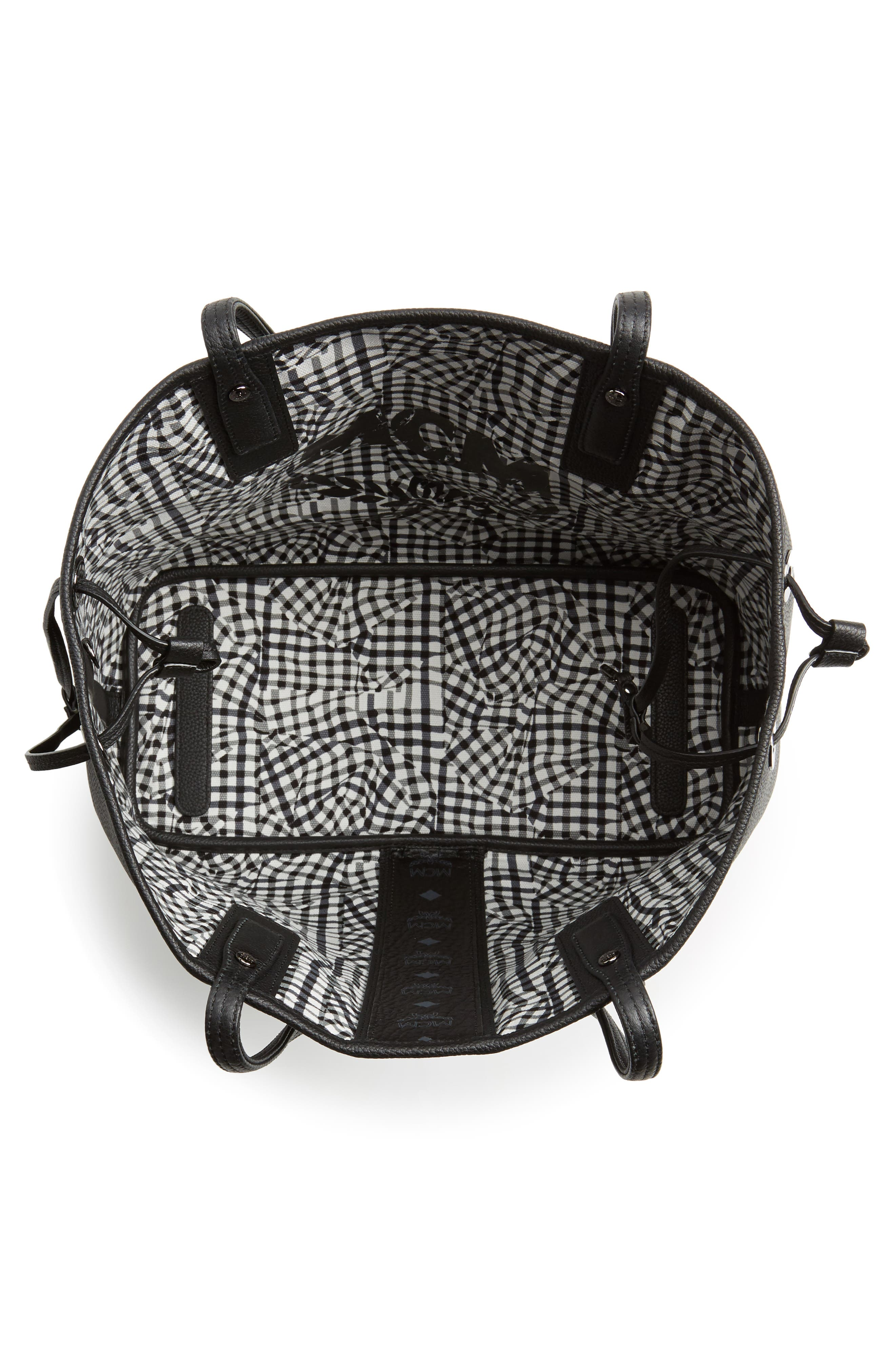 Alternate Image 4  - MCM Medium Liz Reversible Visetos Leather Shopper