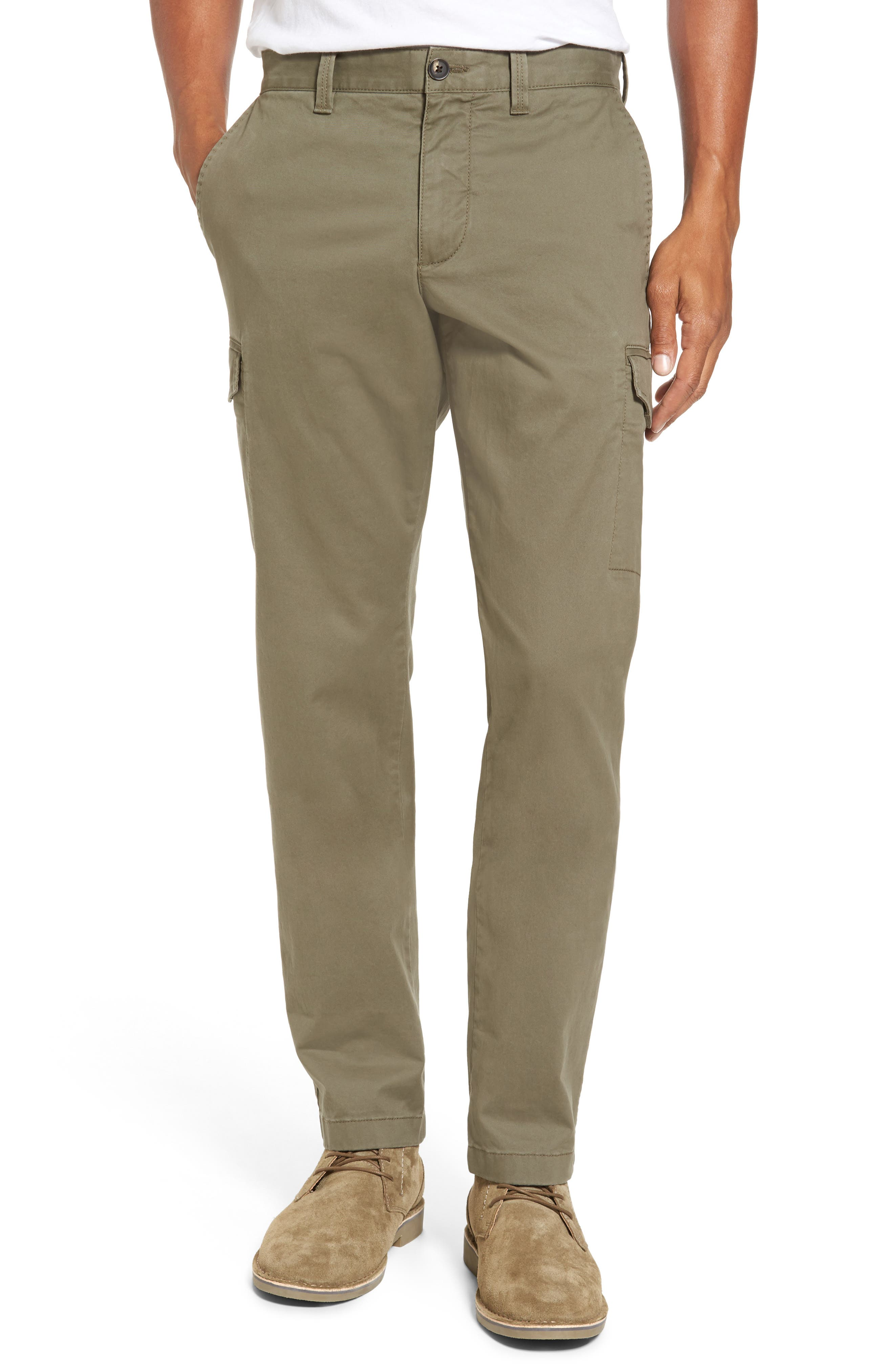 Regular Fit Cargo Pants,                         Main,                         color, Olive Grove