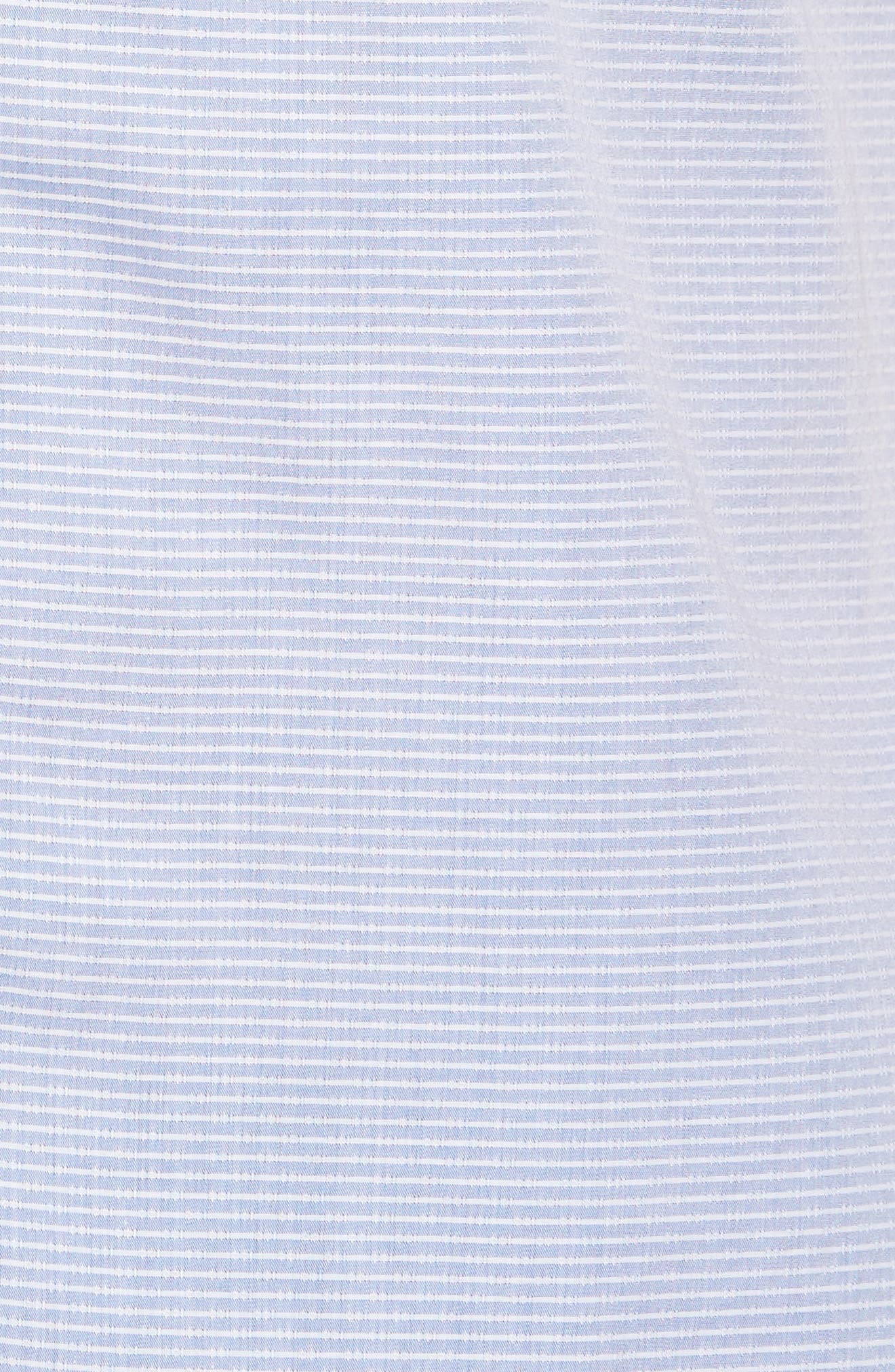 Stripe Woven Shirt,                             Alternate thumbnail 5, color,                             Light Blue
