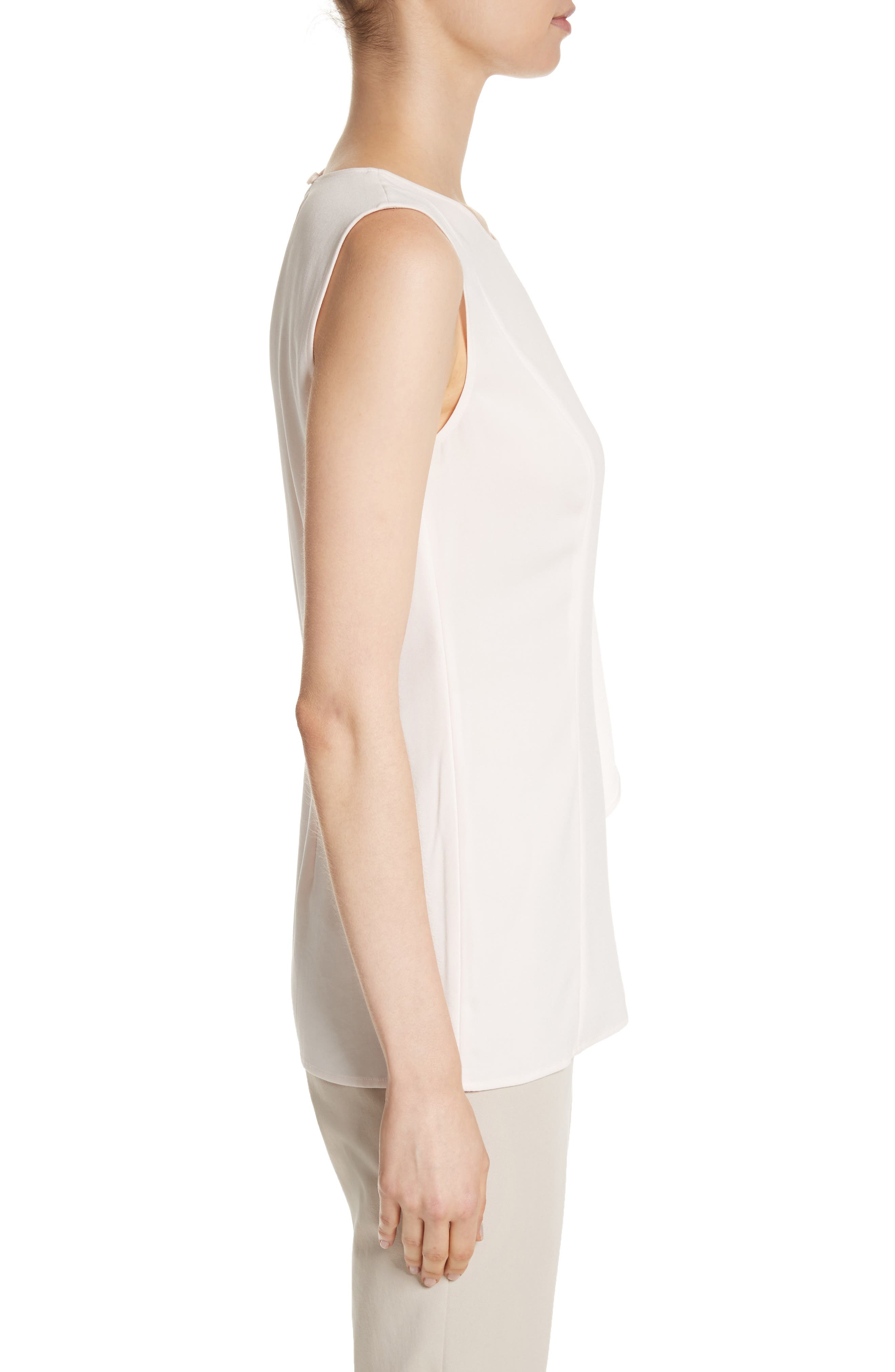 Alternate Image 3  - St. John Collection Ruffle Satin Back Crepe Top