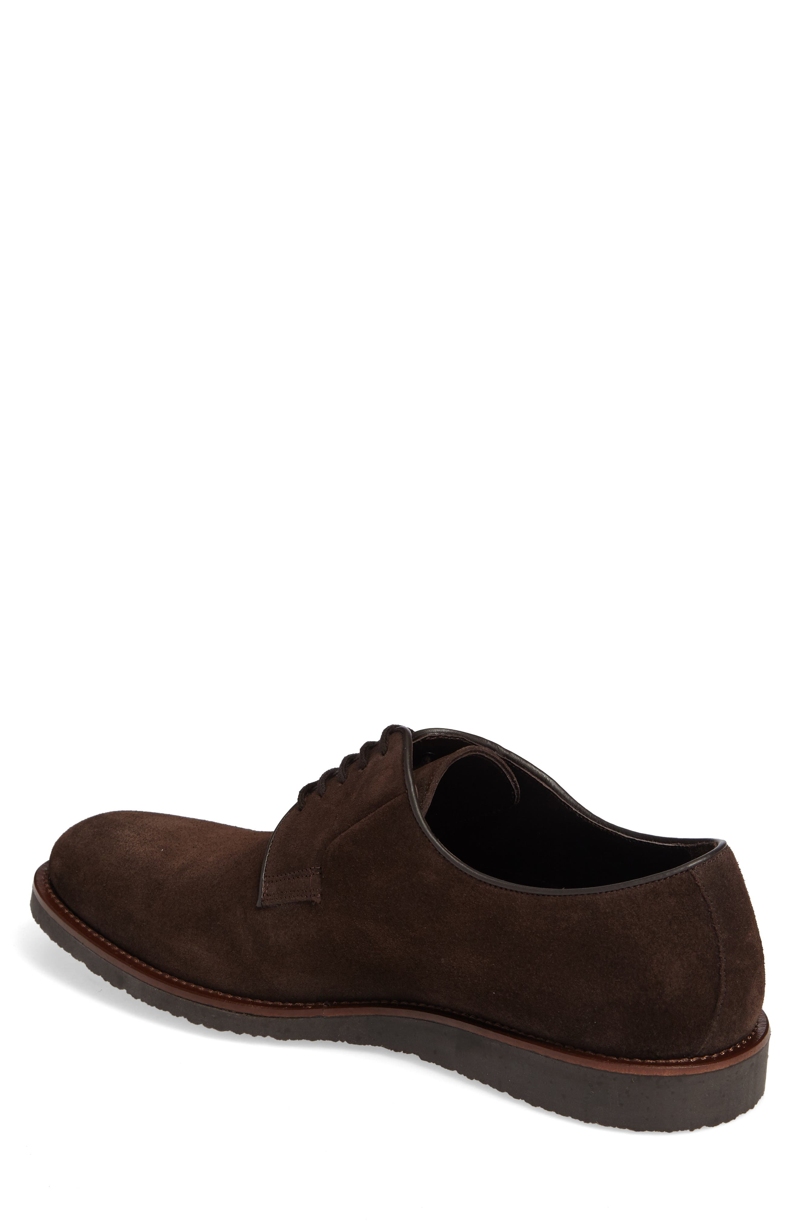 Samuel Plain-Toe Derby,                             Alternate thumbnail 2, color,                             Brown Suede Leather