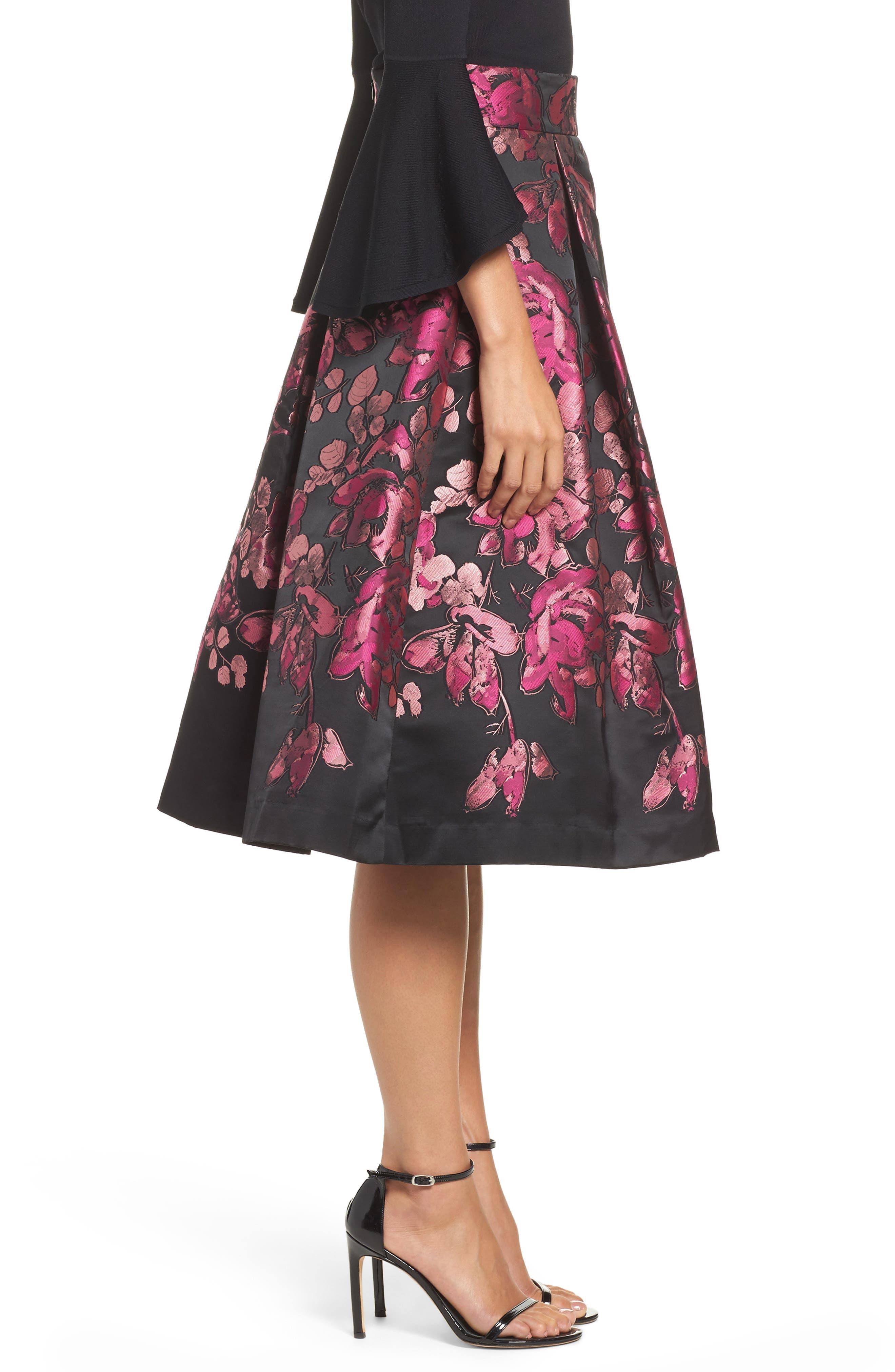 Alternate Image 3  - Eliza J Floral Jacquard Midi Skirt