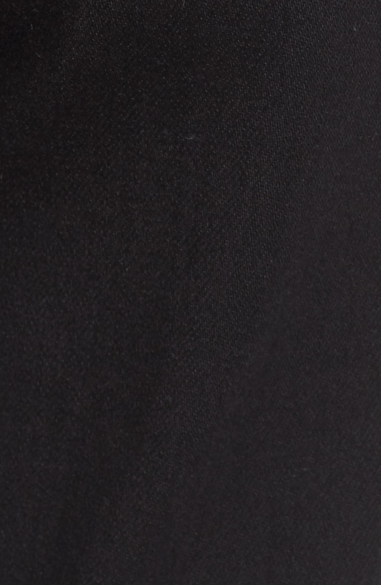 Priscilla High Waist Crop Flare Jeans,                             Alternate thumbnail 5, color,                             Night Black