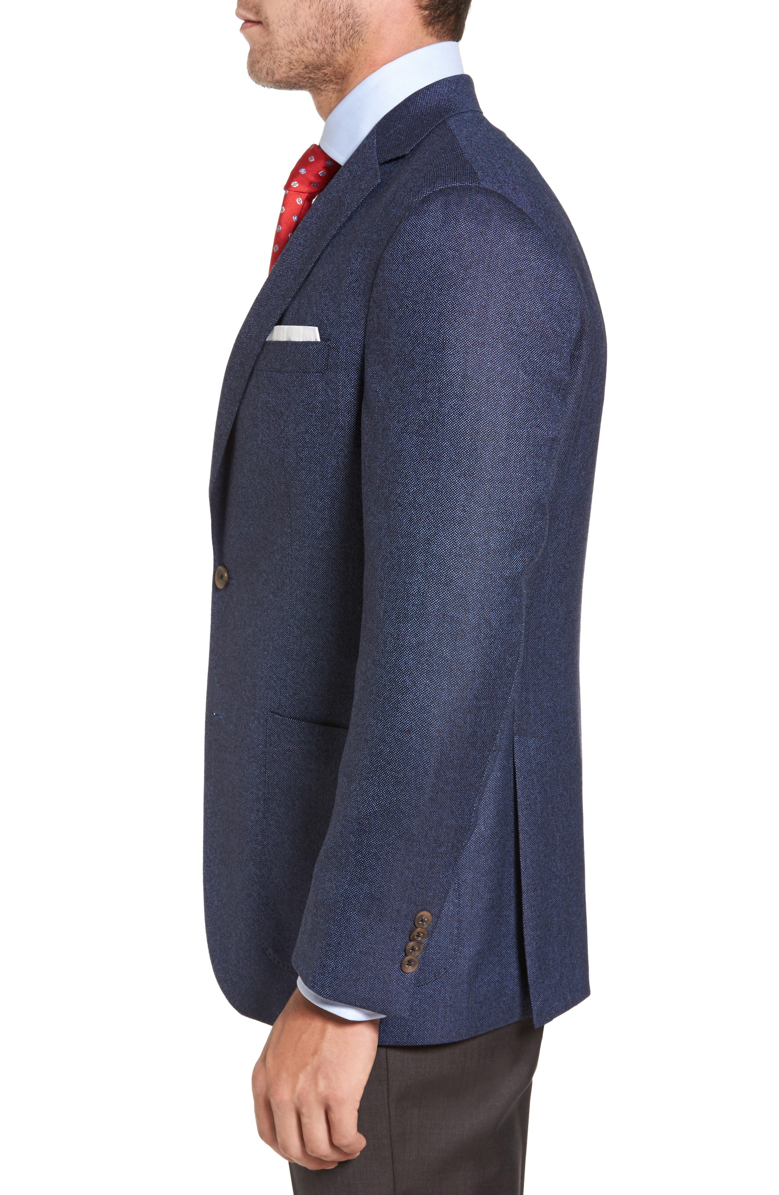 Alternate Image 3  - David Donahue Aiden Classic Fit Wool Blazer