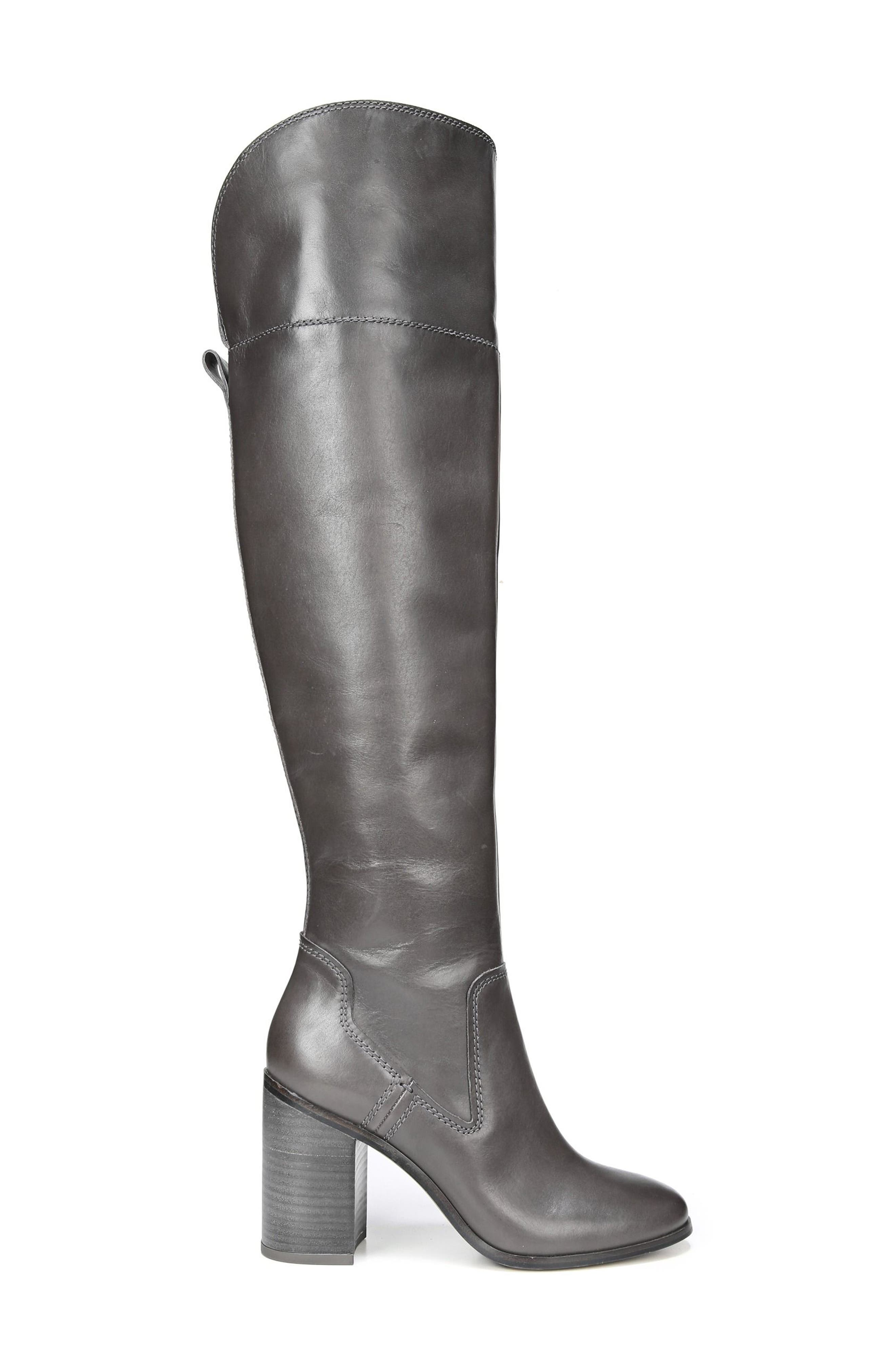 Freda Over the Knee Boot,                             Alternate thumbnail 3, color,                             Peat Leather