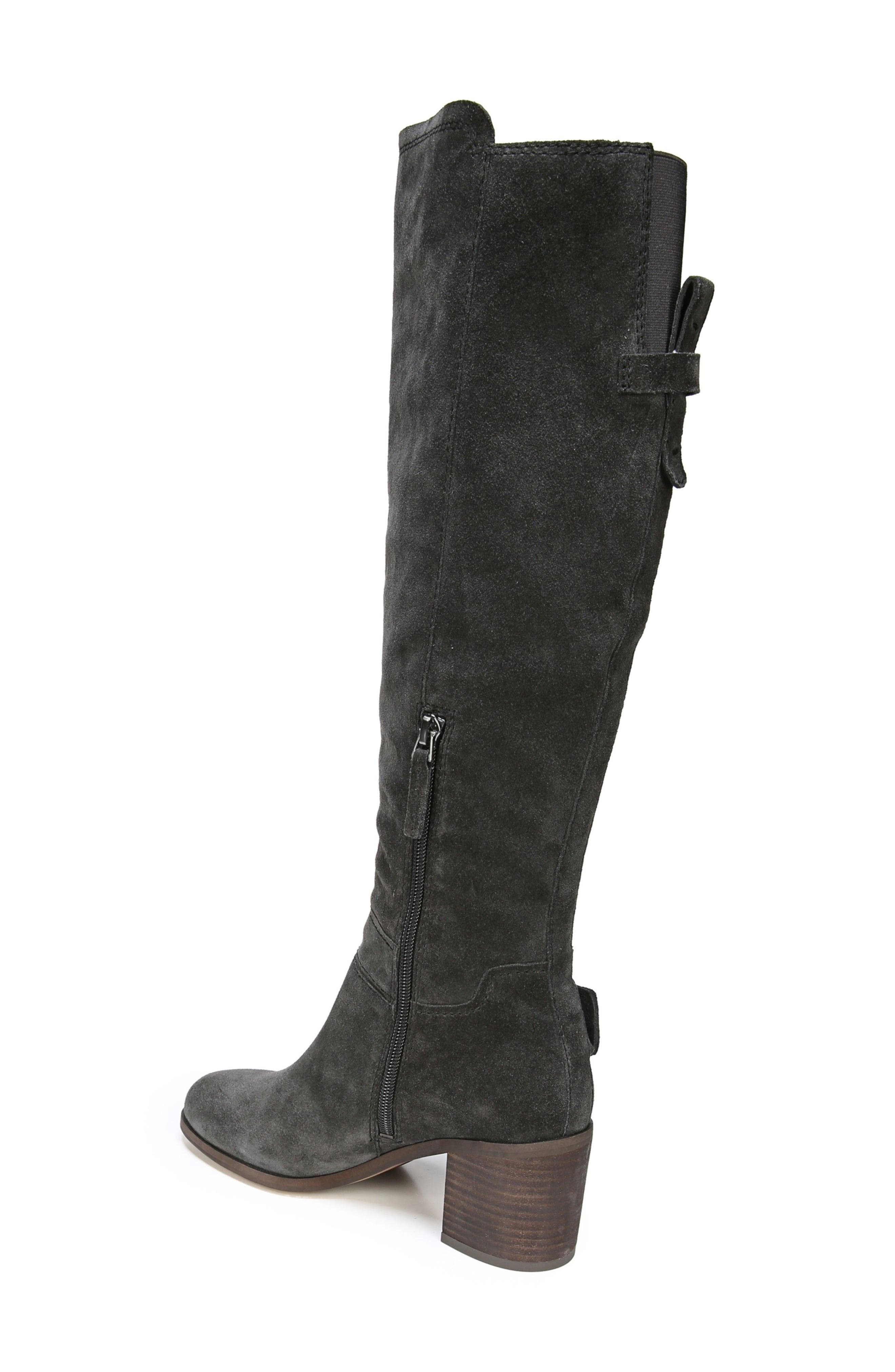 Mystic Knee High Boot,                             Alternate thumbnail 2, color,                             Coal Suede