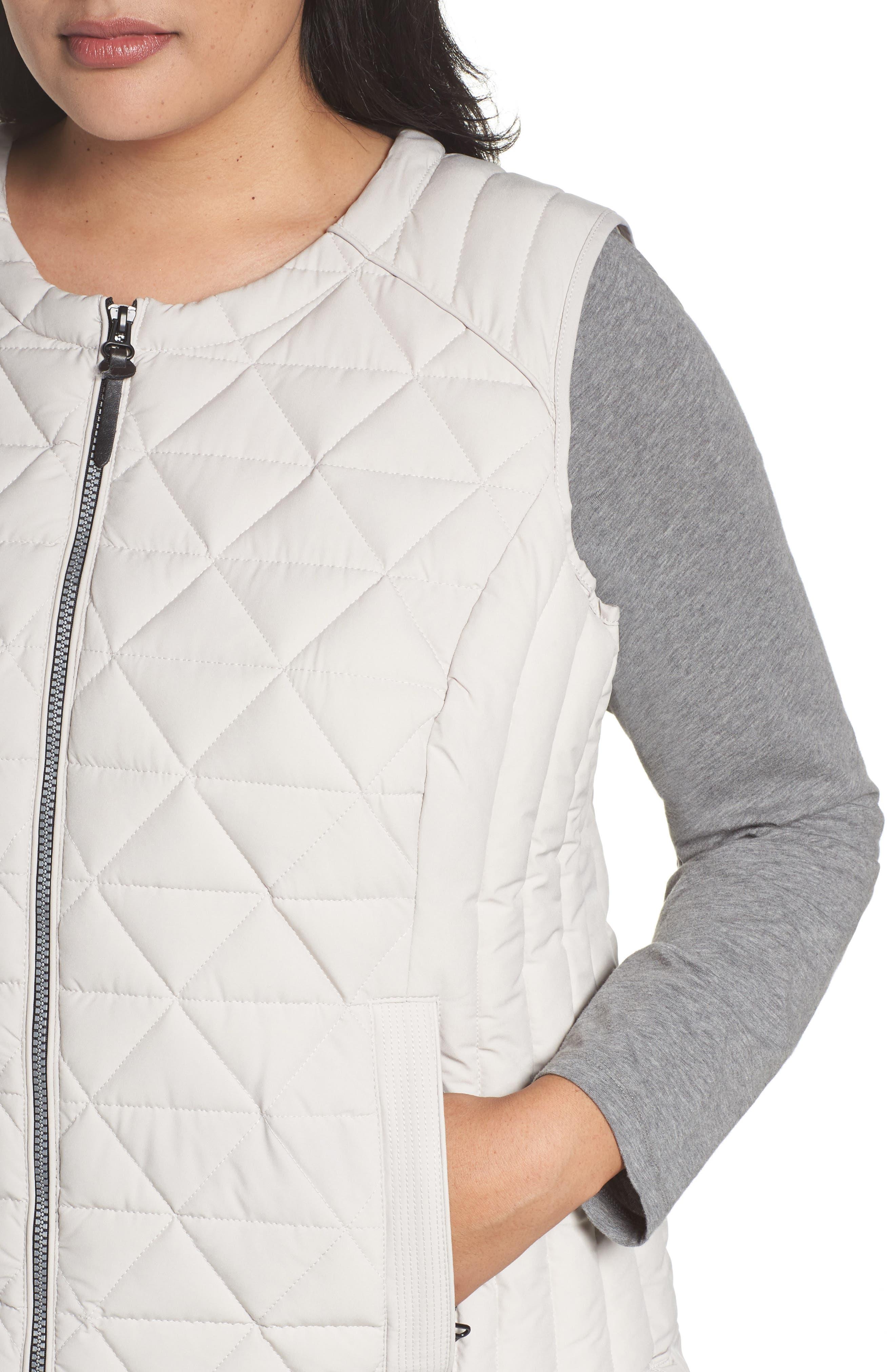 Alternate Image 4  - Andrew Marc Sage Quilted Vest (Plus Size)