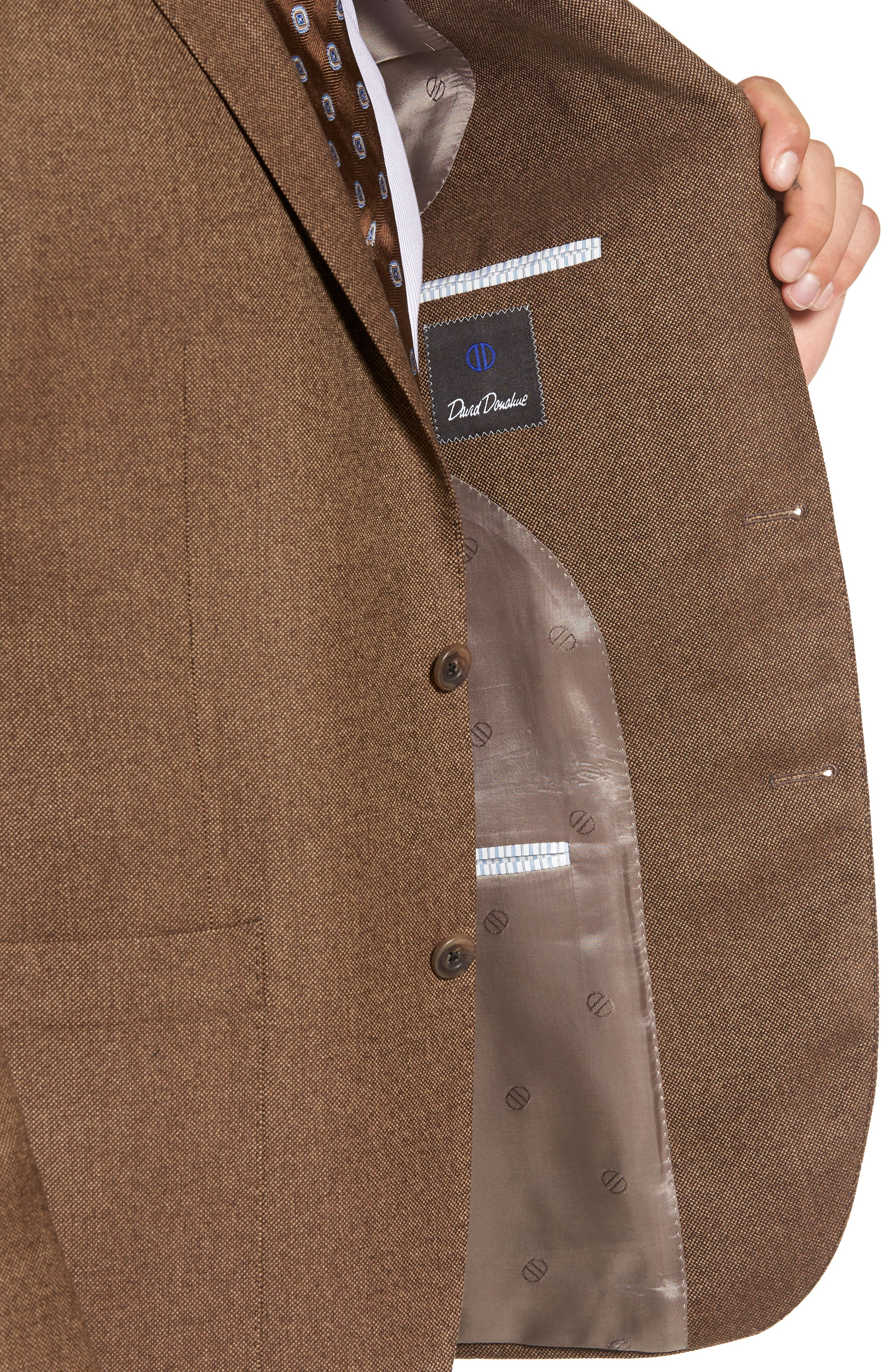 Aiden Classic Fit Wool Blazer,                             Alternate thumbnail 4, color,                             Light Brown
