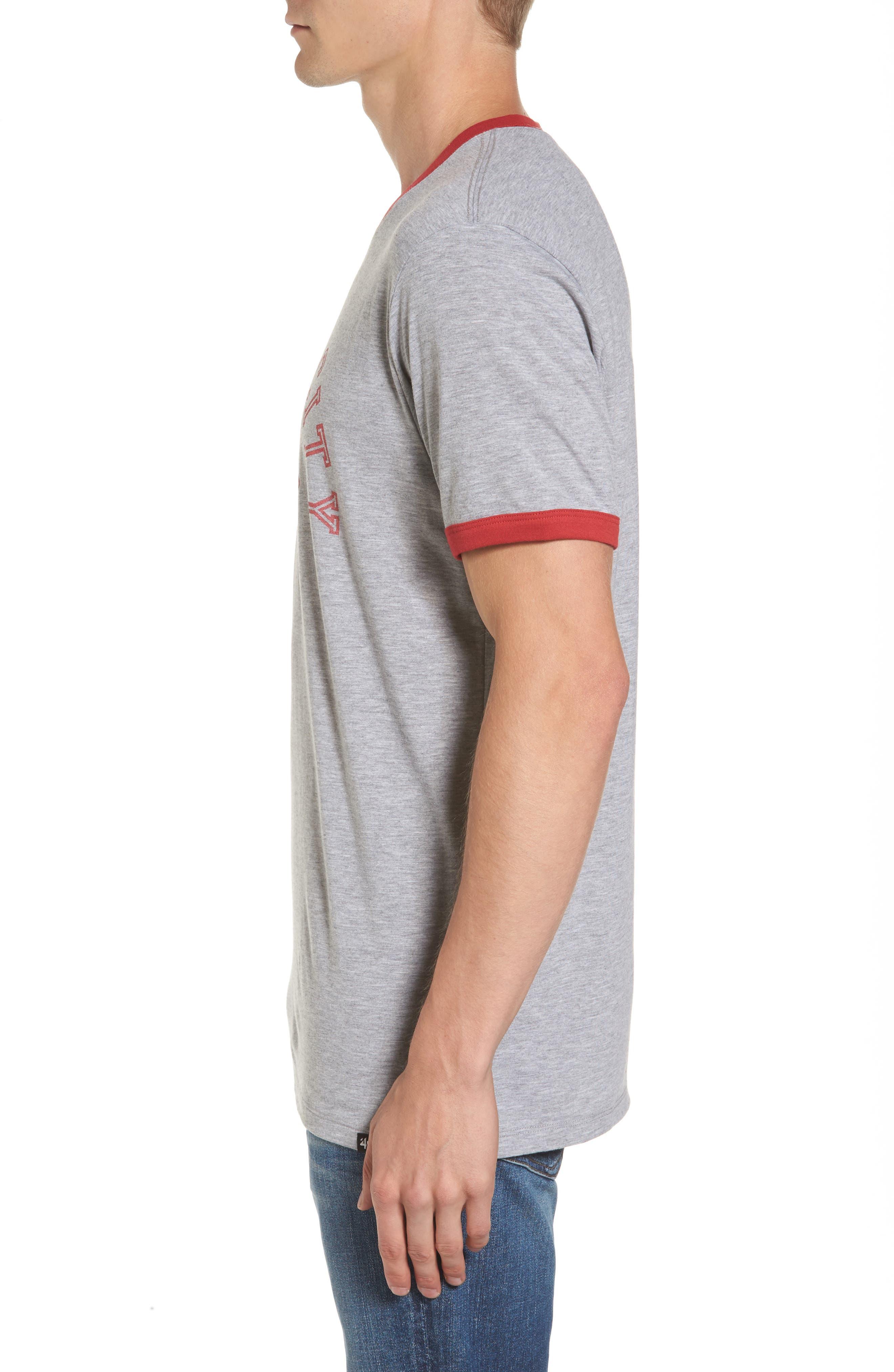 Kansas City Chiefs Ringer T-Shirt,                             Alternate thumbnail 3, color,                             Grey