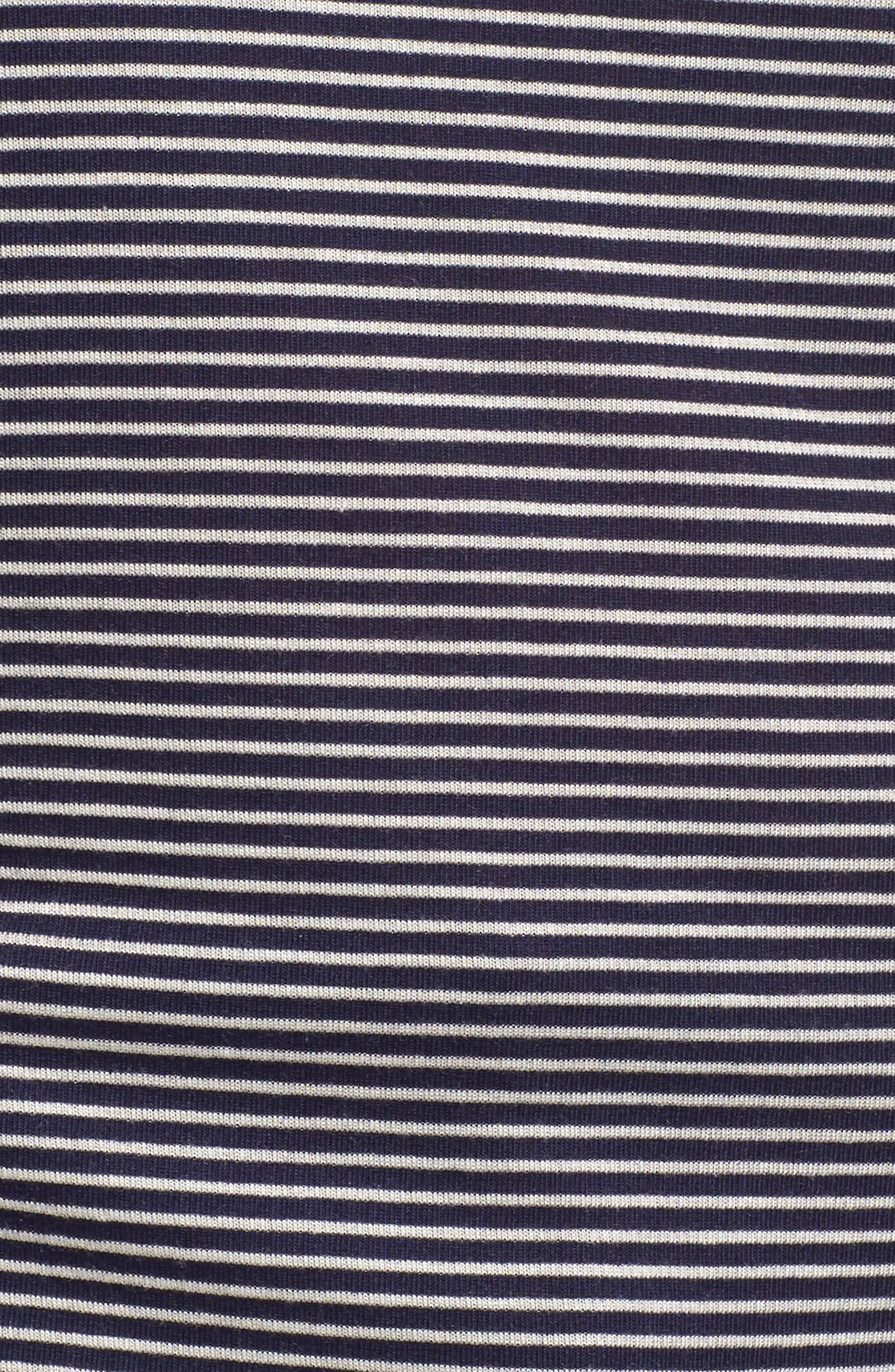 Drawstring Shoulder Tee,                             Alternate thumbnail 5, color,                             Navy/ White Stripe
