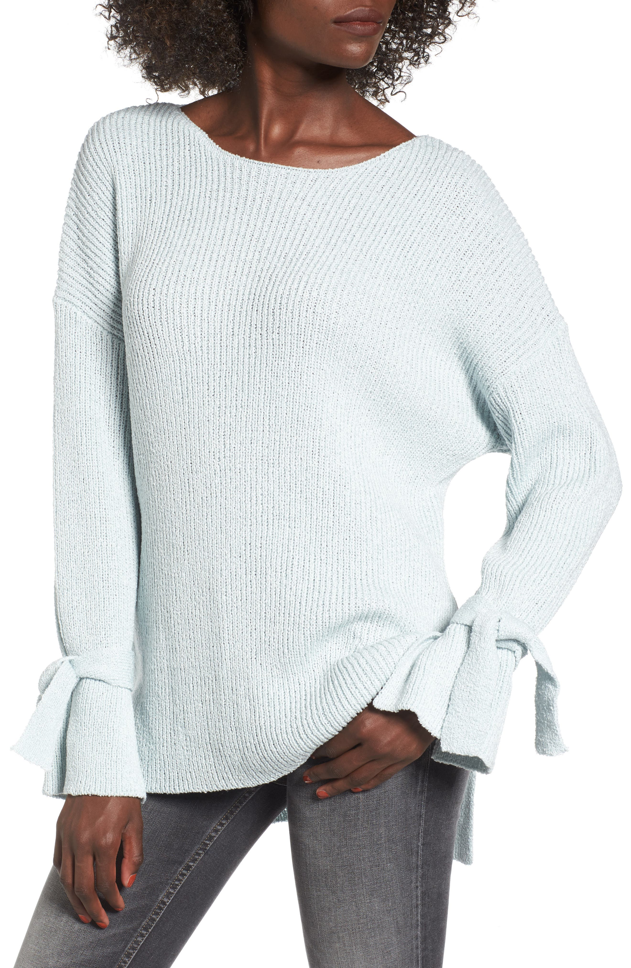 Lush Tie Sleeve Sweater