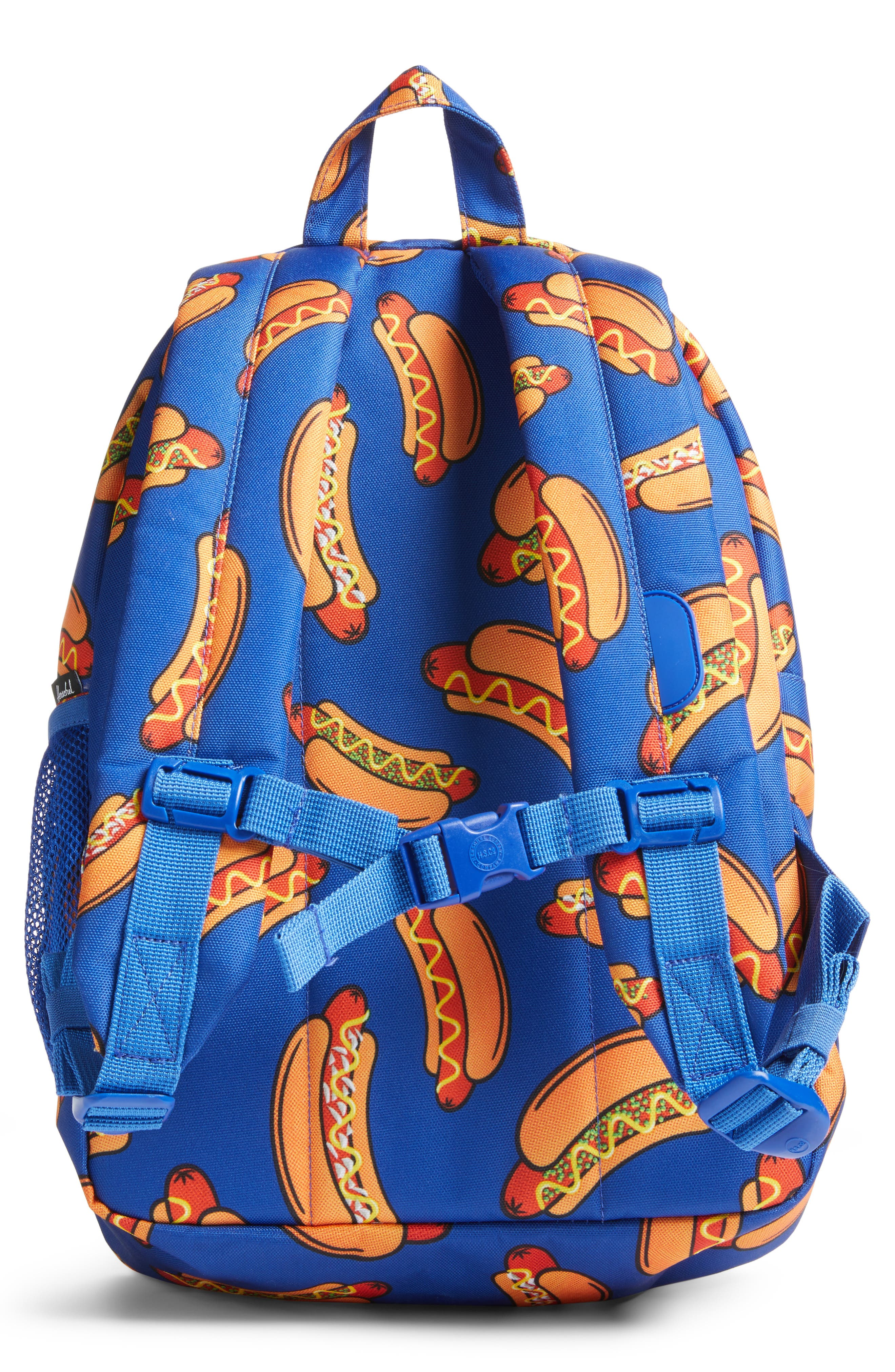 Herschell Supply Co. Heritage Hotdog Print Backpack,                             Alternate thumbnail 2, color,                             Surf The Web Hot Dogs/ Rubber