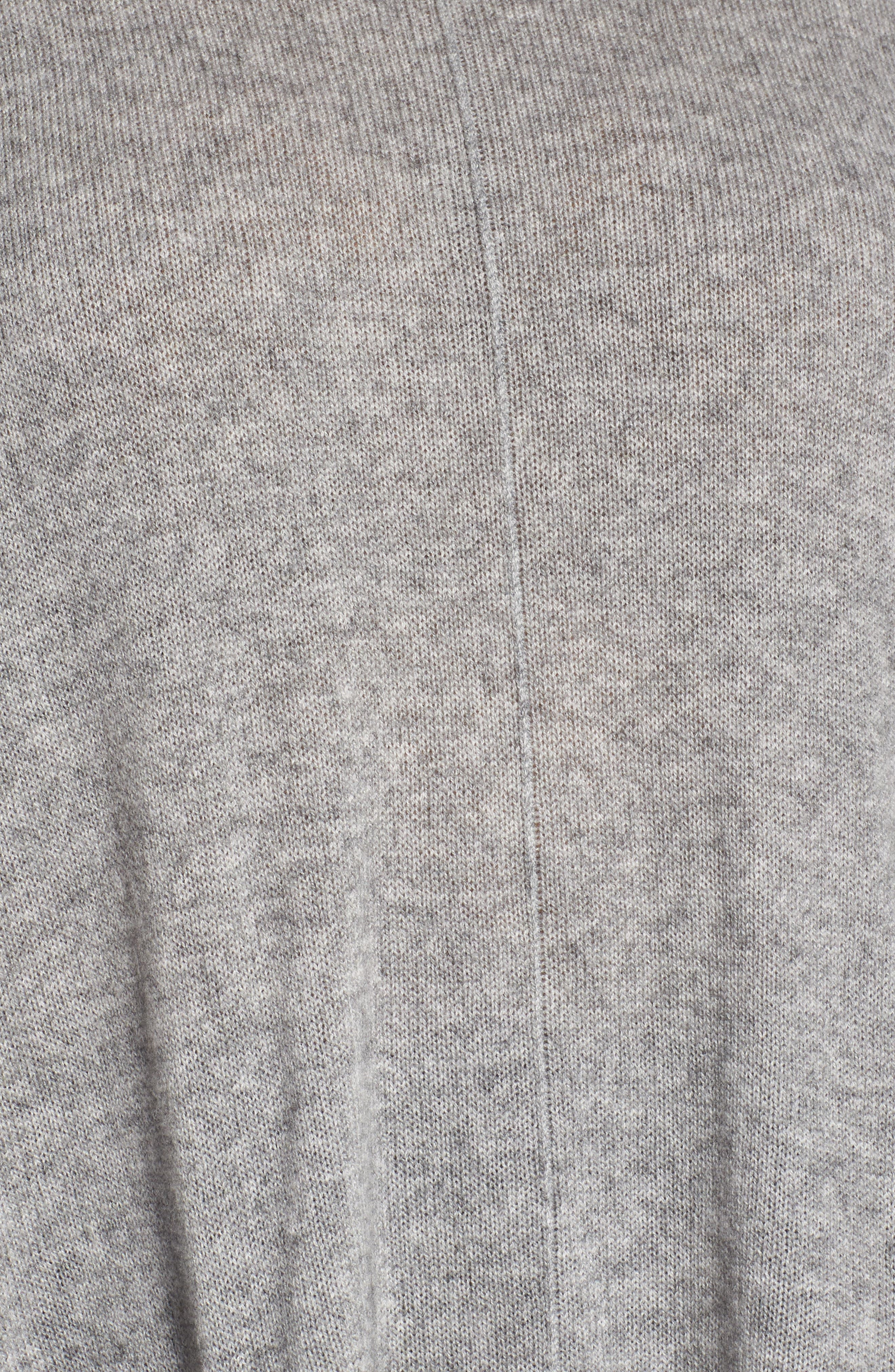 Ribbed Pocket Poncho,                             Alternate thumbnail 5, color,                             Grey Clay Heather