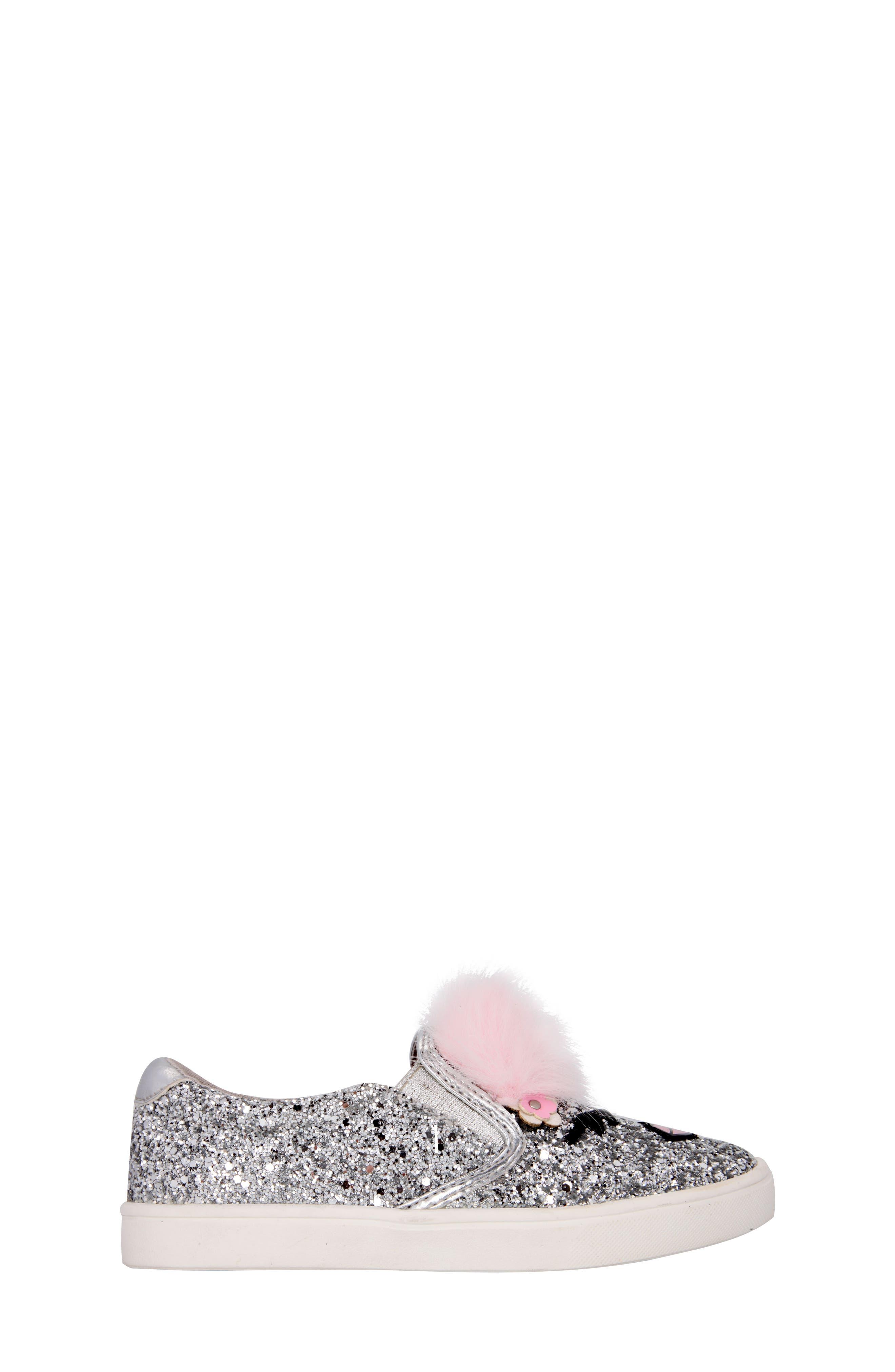 Alternate Image 3  - Nina Ragina Faux Fur Slip-On Sneaker (Little Kid & Big Kid)