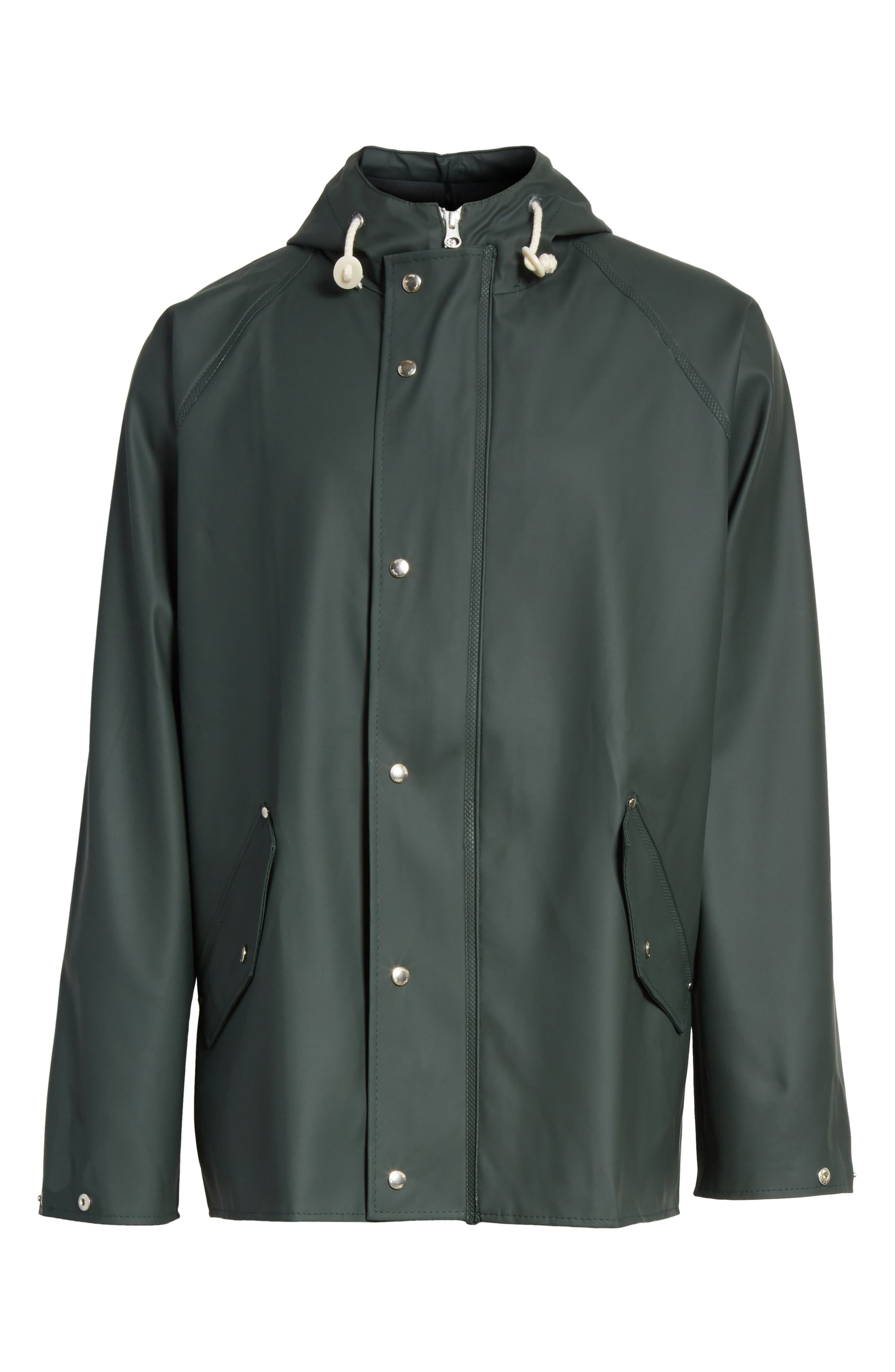 Waterproof Rain Jacket,                             Alternate thumbnail 10, color,                             Moss