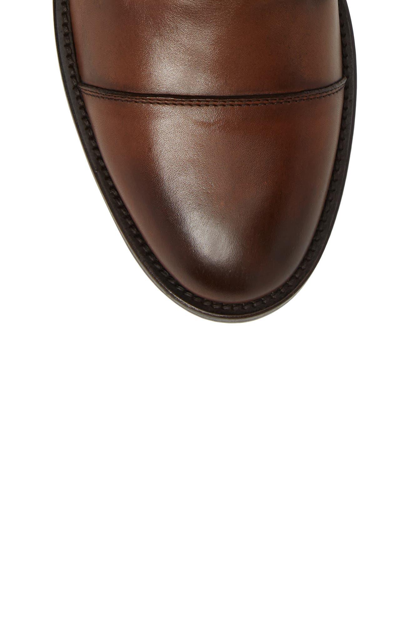 Henri Cap Toe Boot,                             Alternate thumbnail 5, color,                             Cuoio Leather