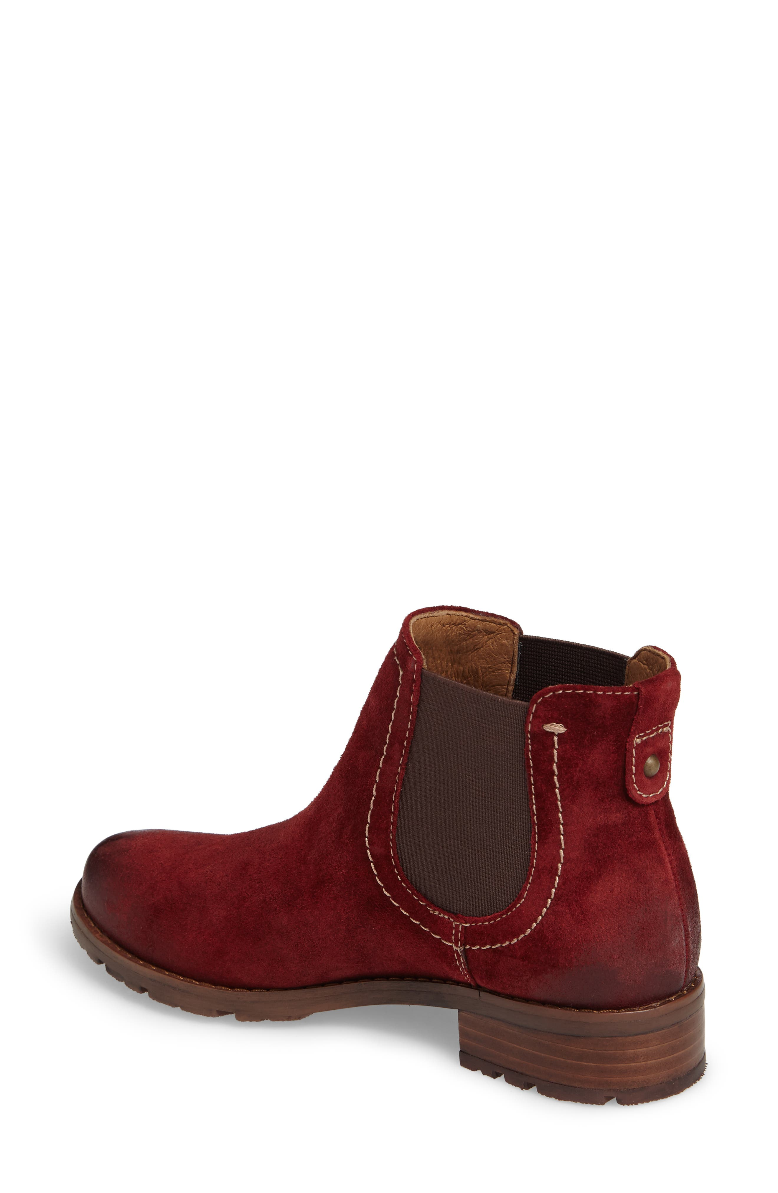'Selby' Chelsea Bootie,                             Alternate thumbnail 2, color,                             Bordo Suede