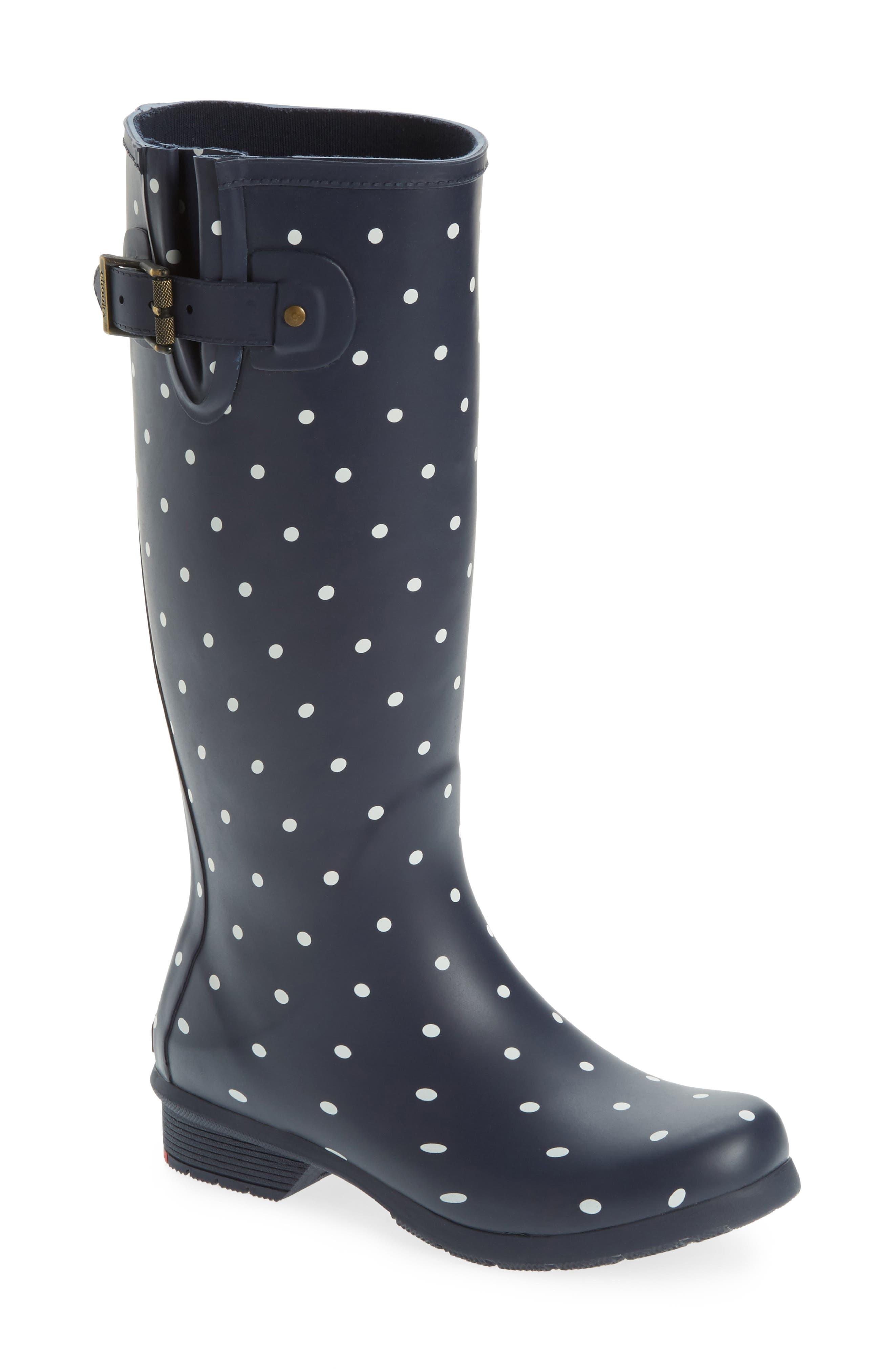 Alternate Image 1 Selected - Chooka Classic Dot Rain Boot (Women)