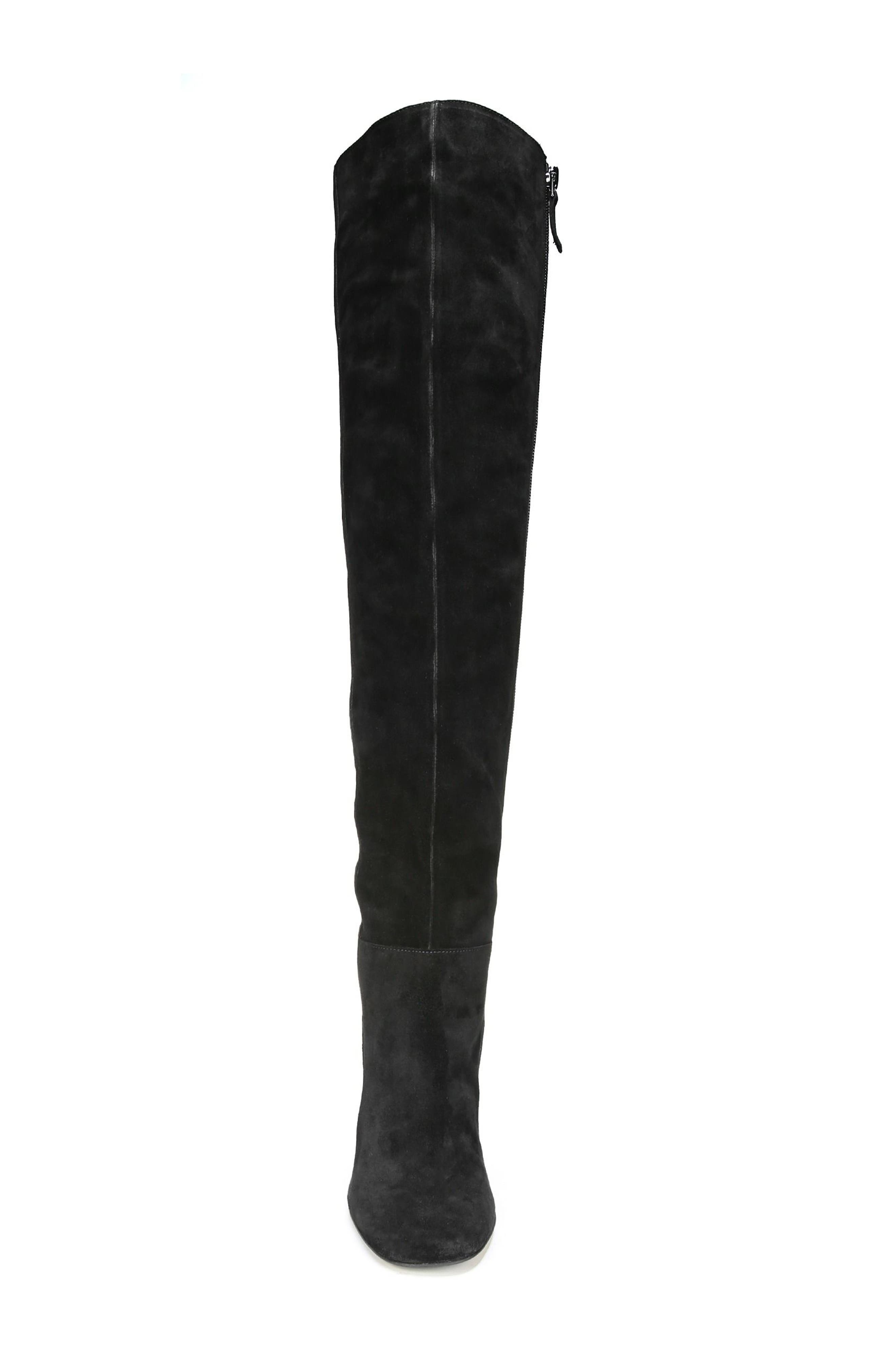 Laurel Over the Knee Boot,                             Alternate thumbnail 4, color,                             Black Suede