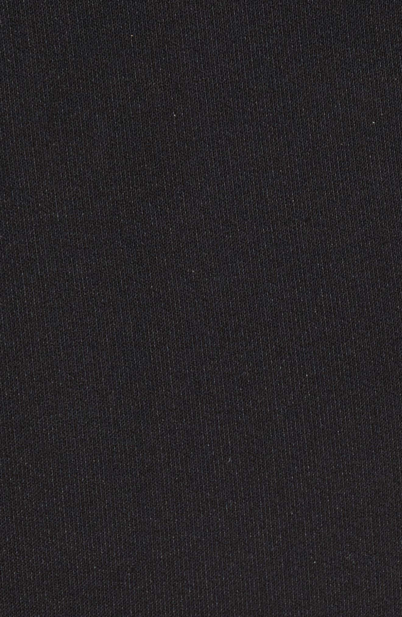Seneca Flare Leg Crop Pants,                             Alternate thumbnail 5, color,                             Black
