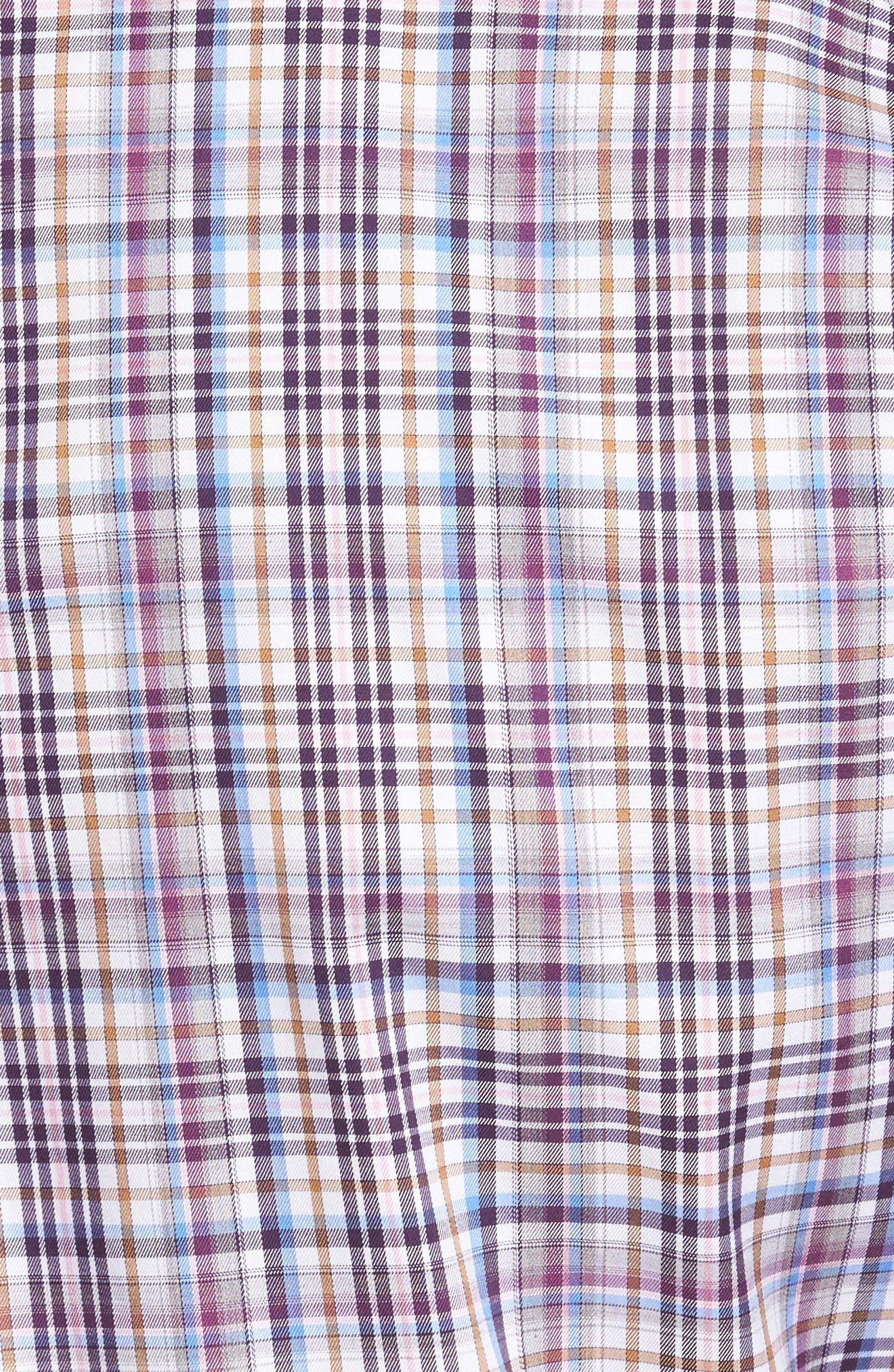 Destination Regular Fit Plaid Sport Shirt,                             Alternate thumbnail 5, color,                             Blackberry